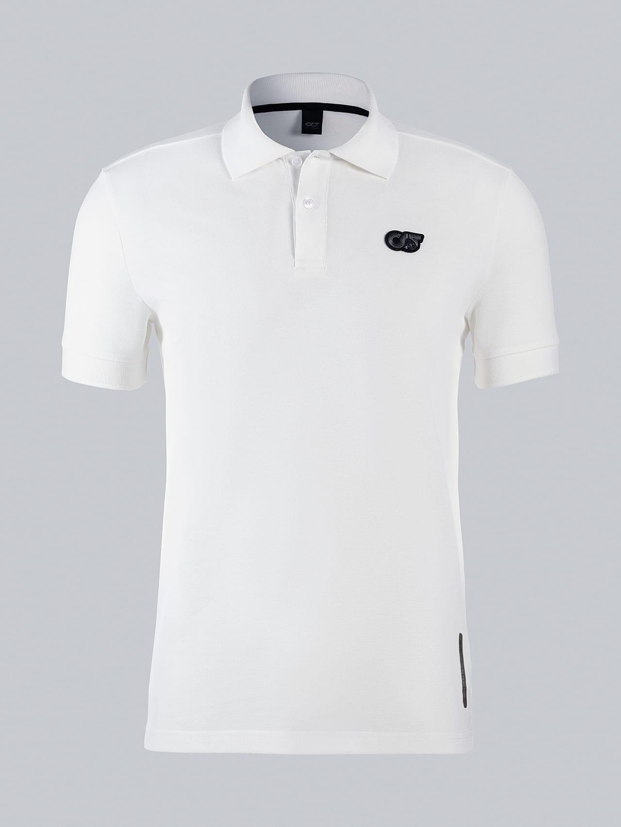 JANX V5.Y5.02 Pique Polo Shirt offwhite Back Alpha Tauri