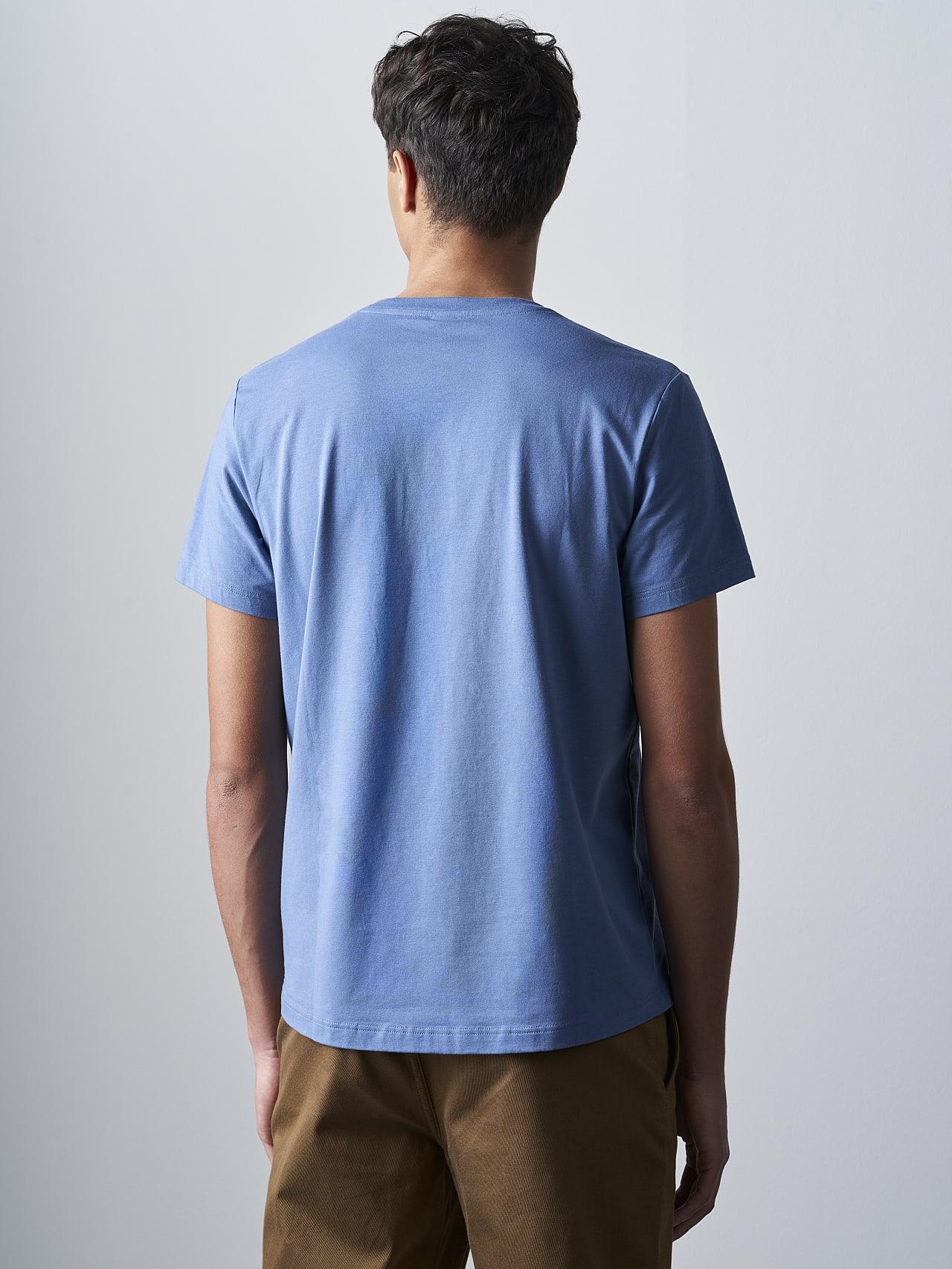 JABIS V1.Y5.02 Logo Print T-Shirt light blue Front Main Alpha Tauri