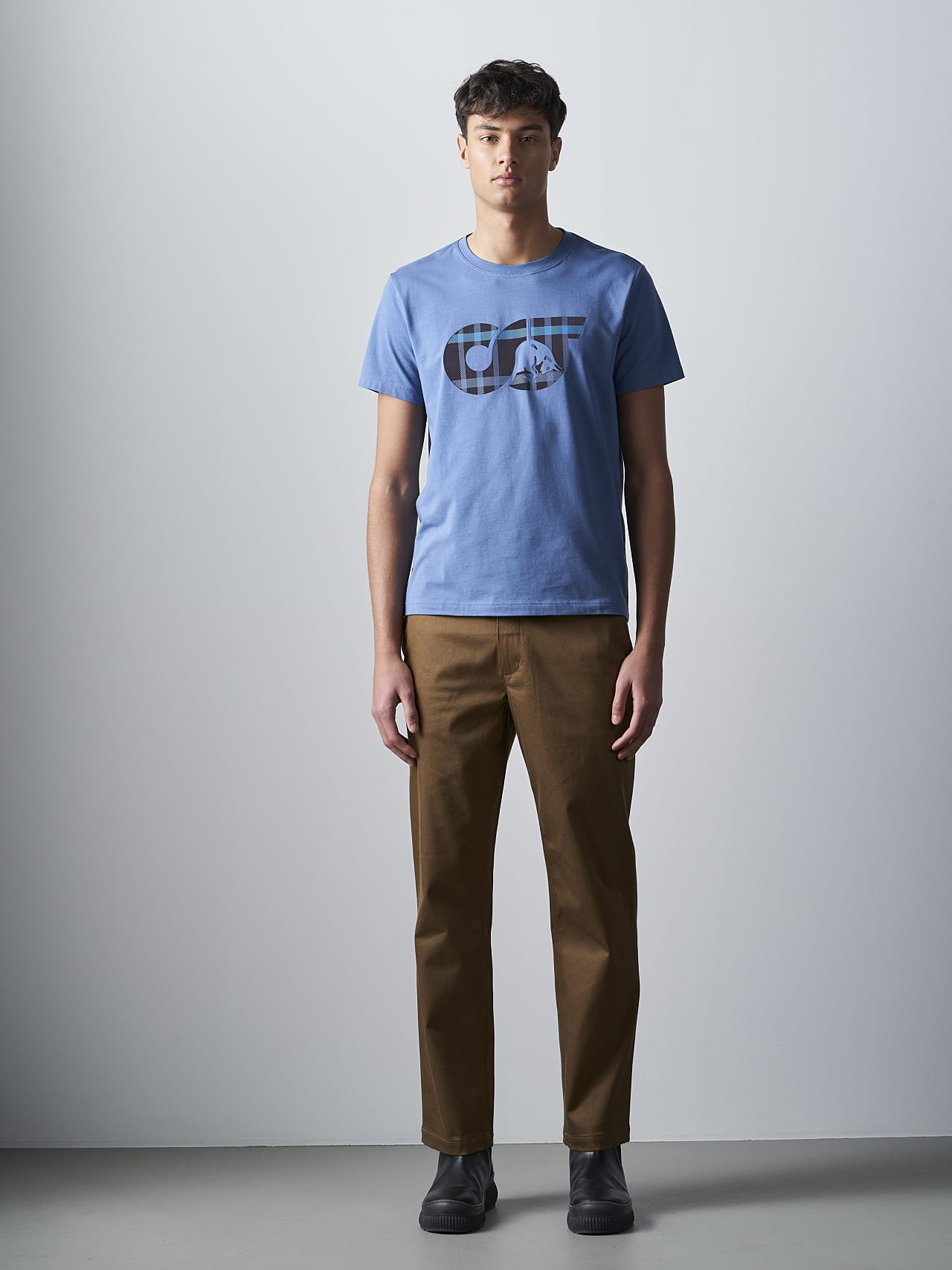 JABIS V1.Y5.02 Logo Print T-Shirt light blue Front Alpha Tauri