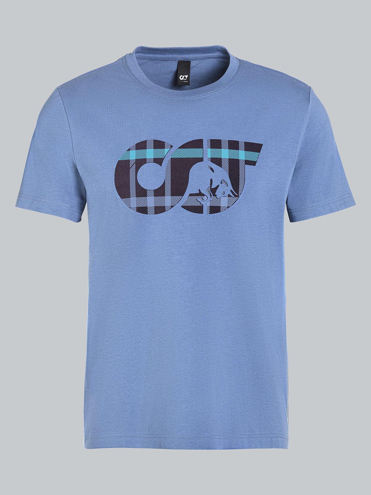 JABIS V1.Y5.02 Logo Print T-Shirt light blue Back Alpha Tauri