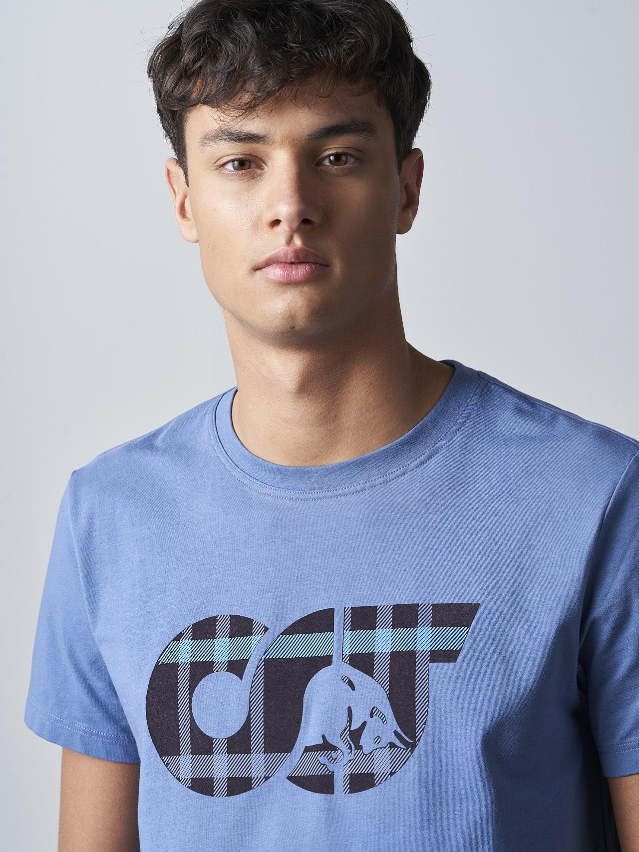 JABIS V1.Y5.02 Logo Print T-Shirt light blue Right Alpha Tauri