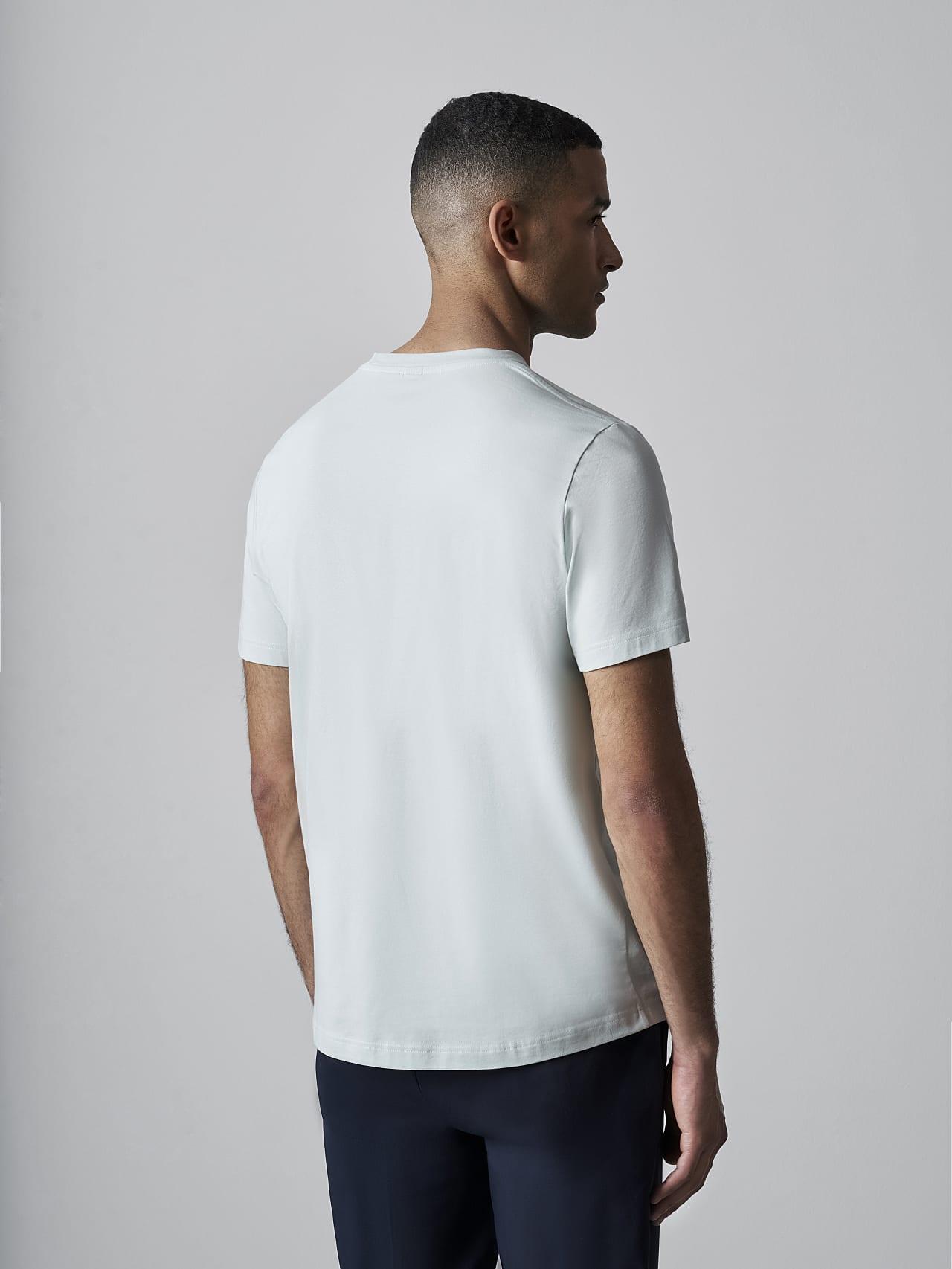 JABIS V1.Y5.02 Logo Print T-Shirt Pale Blue  Front Main Alpha Tauri