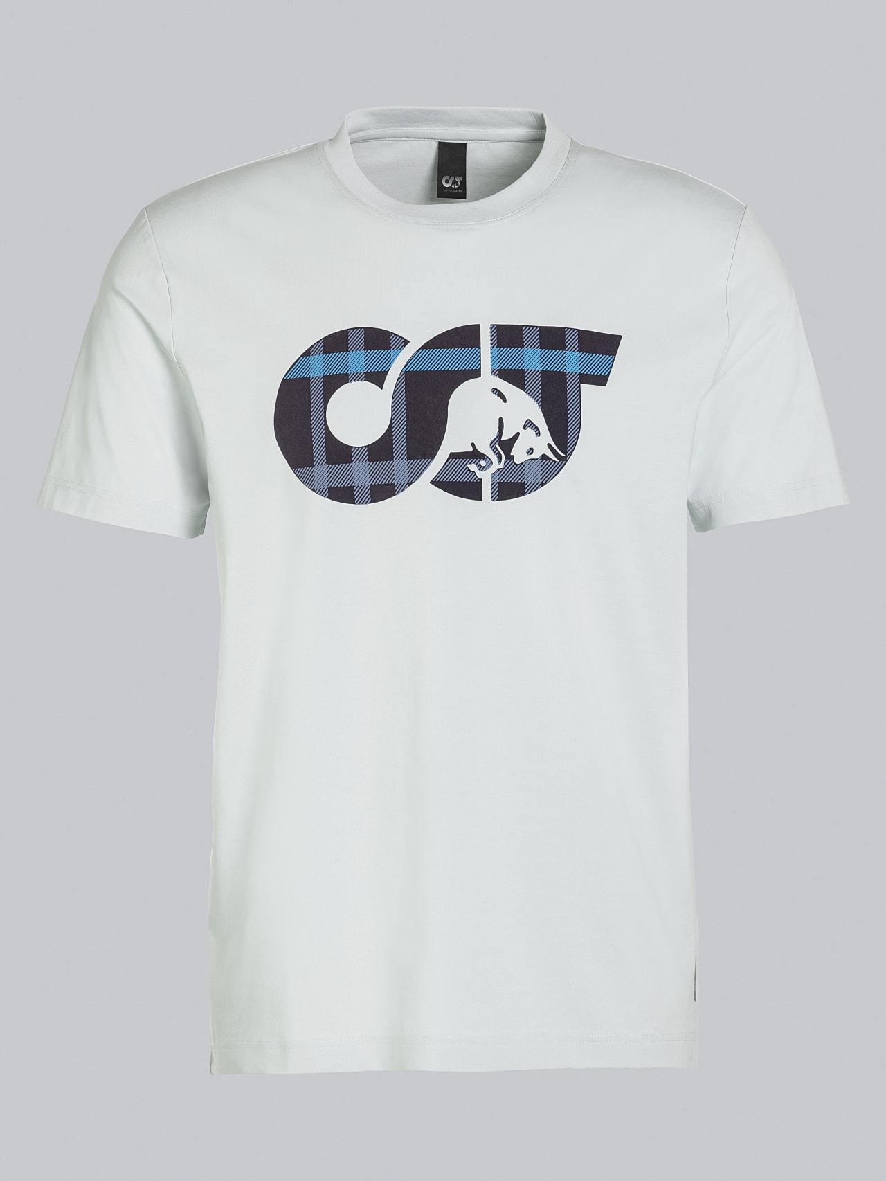 JABIS V1.Y5.02 Logo Print T-Shirt Pale Blue  Back Alpha Tauri