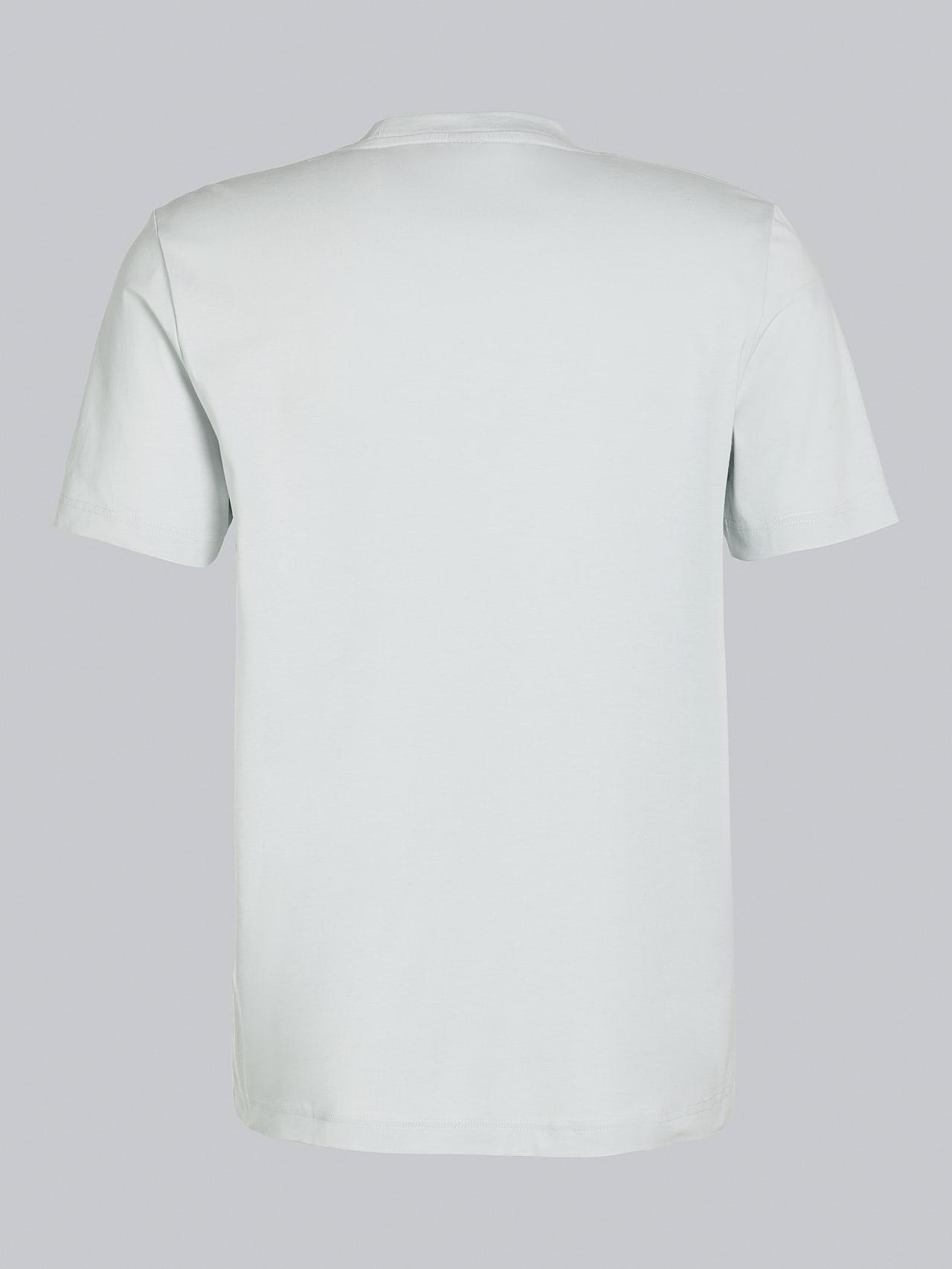 JABIS V1.Y5.02 Logo Print T-Shirt Pale Blue  Left Alpha Tauri