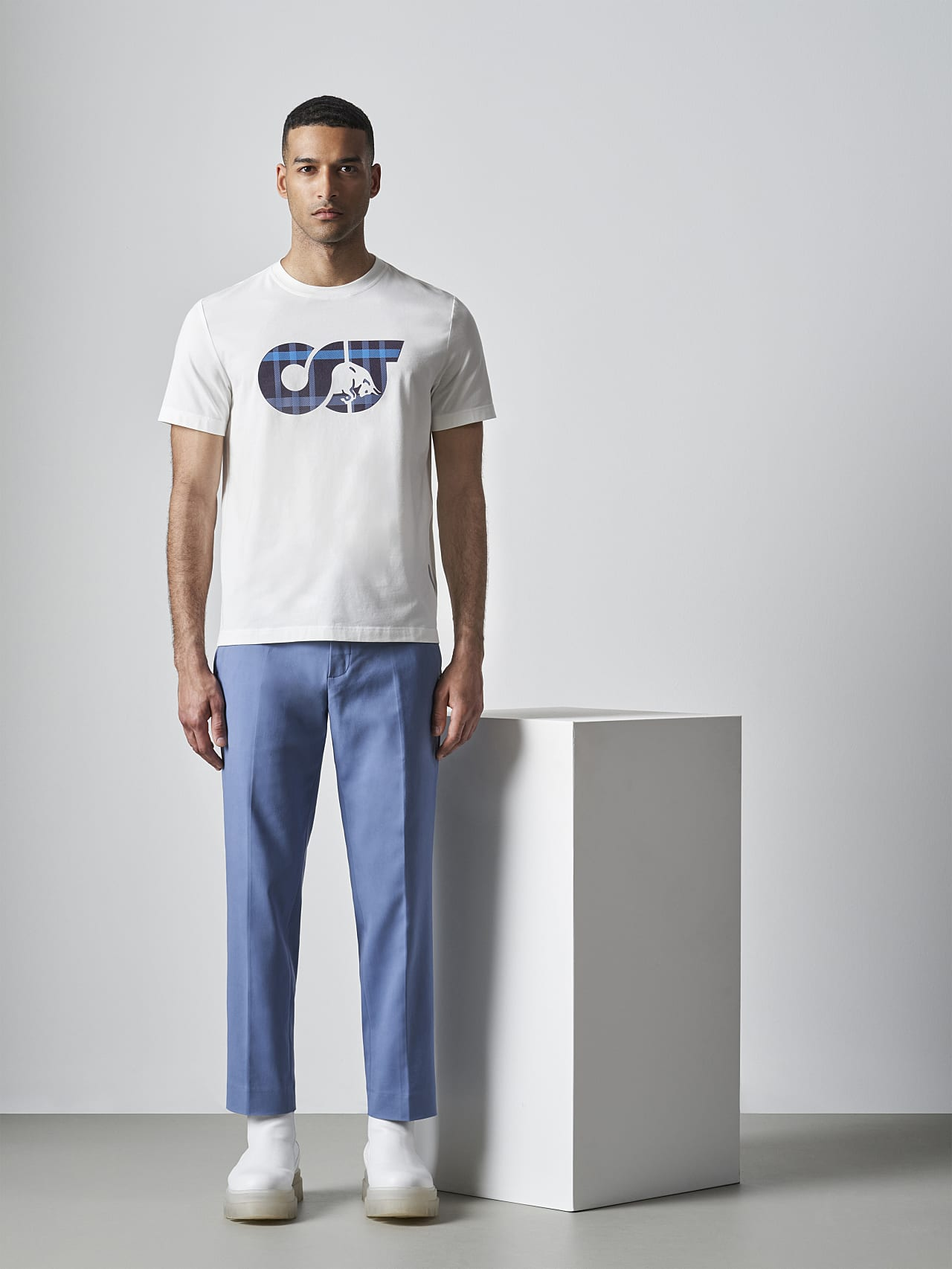 JABIS V1.Y5.02 Logo Print T-Shirt offwhite Front Alpha Tauri