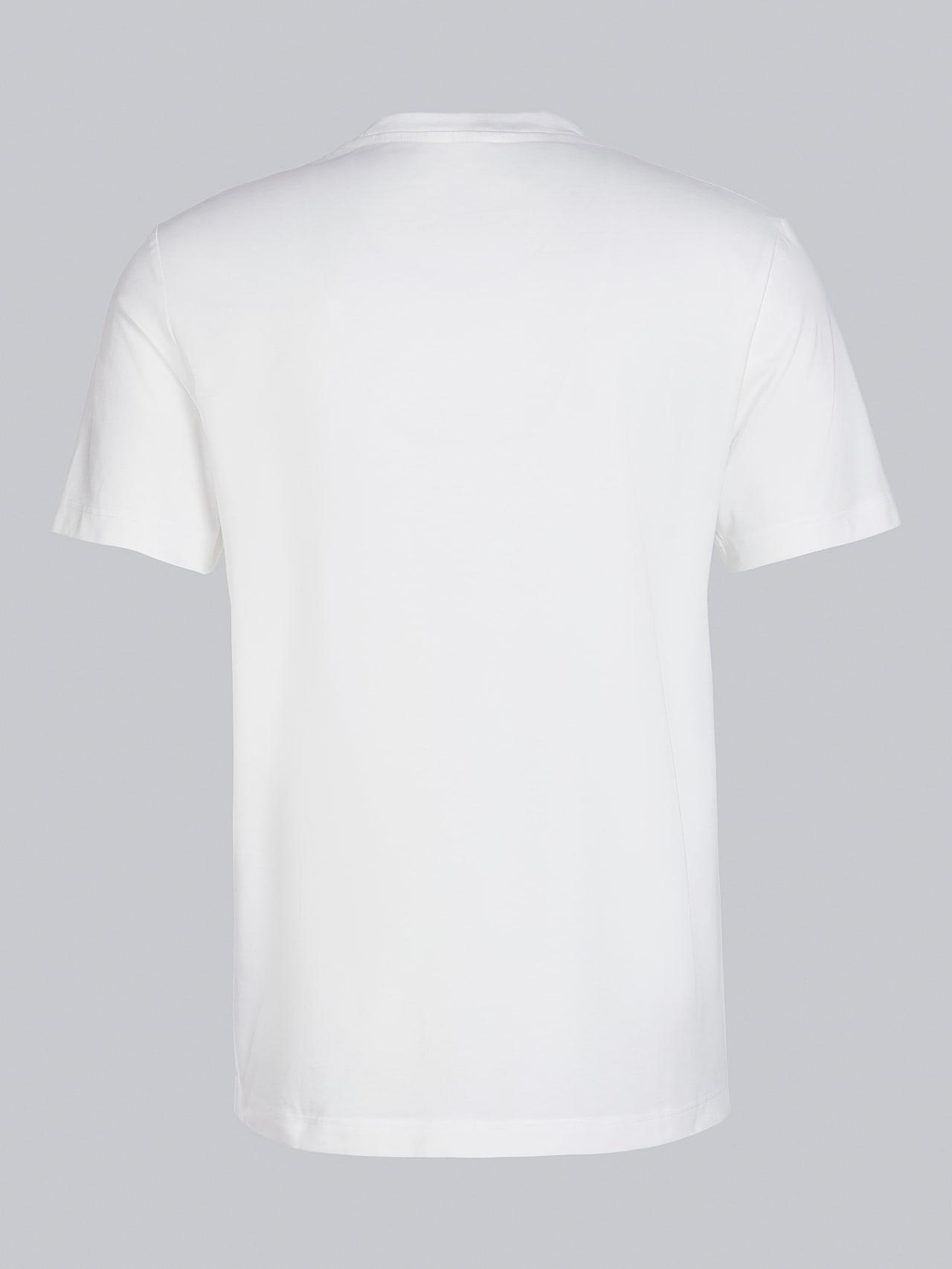 JABIS V1.Y5.02 Logo Print T-Shirt offwhite Left Alpha Tauri