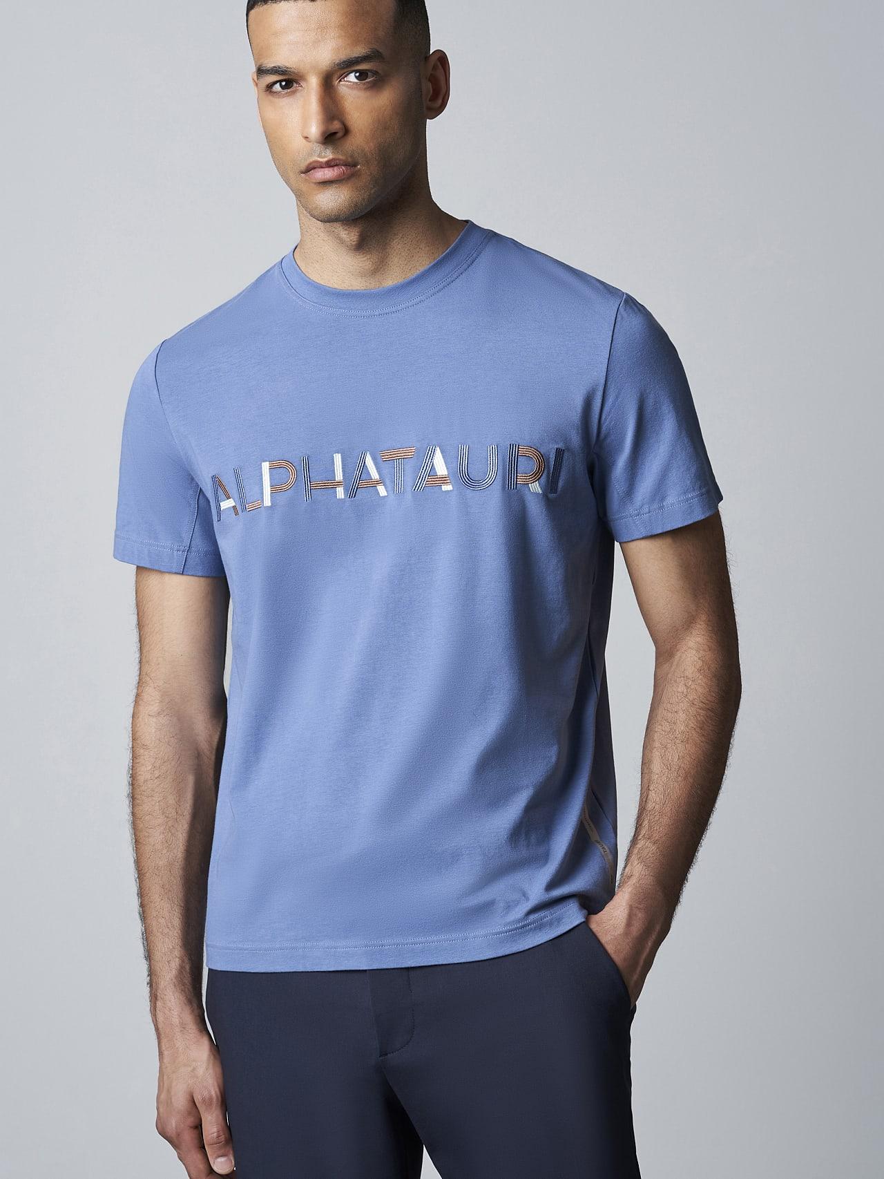 JANOS V3.Y5.02 Logo Embroidery T-Shirt light blue Front Main Alpha Tauri