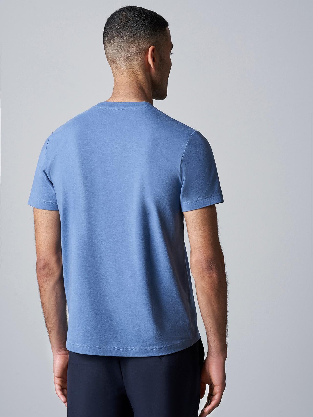 JANOS V3.Y5.02 Logo Embroidery T-Shirt light blue Right Alpha Tauri