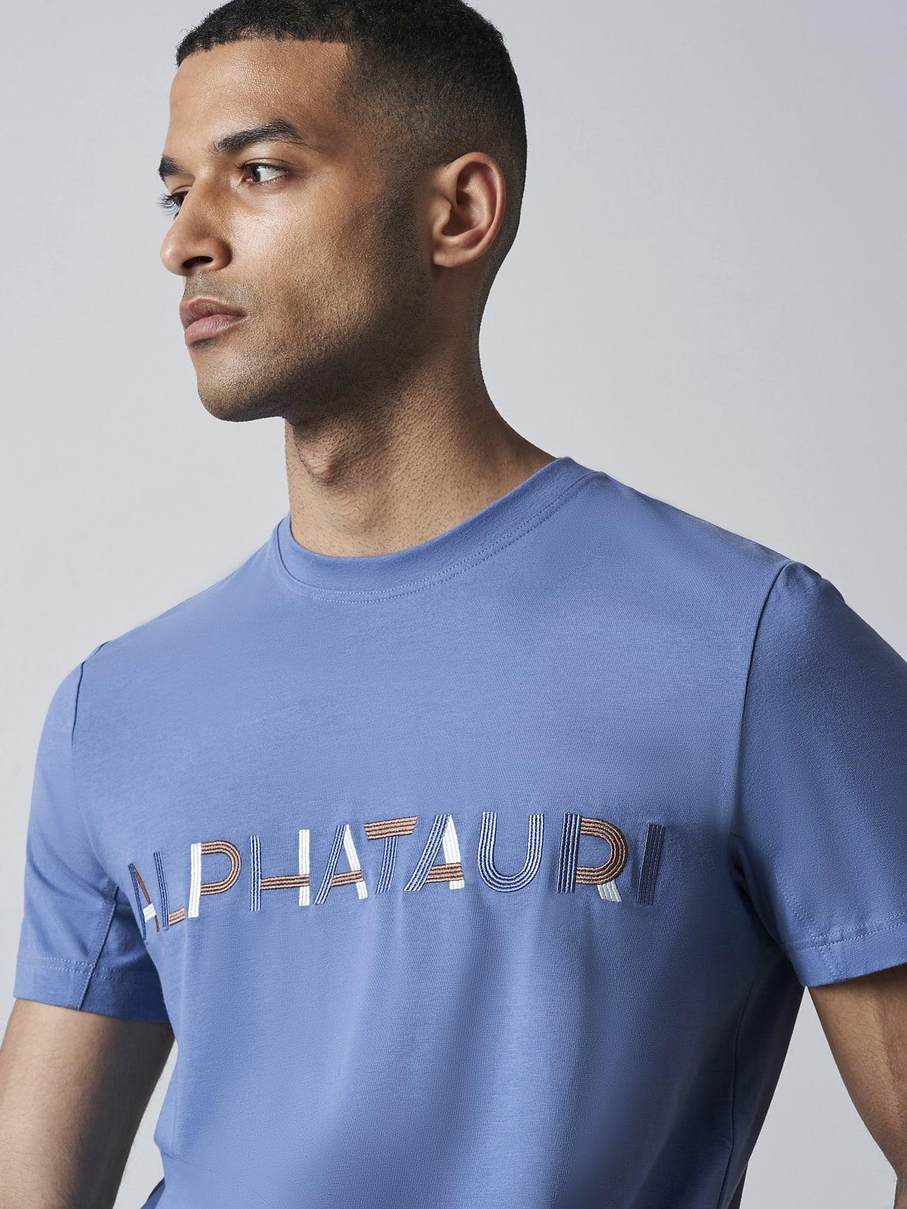 JANOS V3.Y5.02 Logo Embroidery T-Shirt light blue Extra Alpha Tauri
