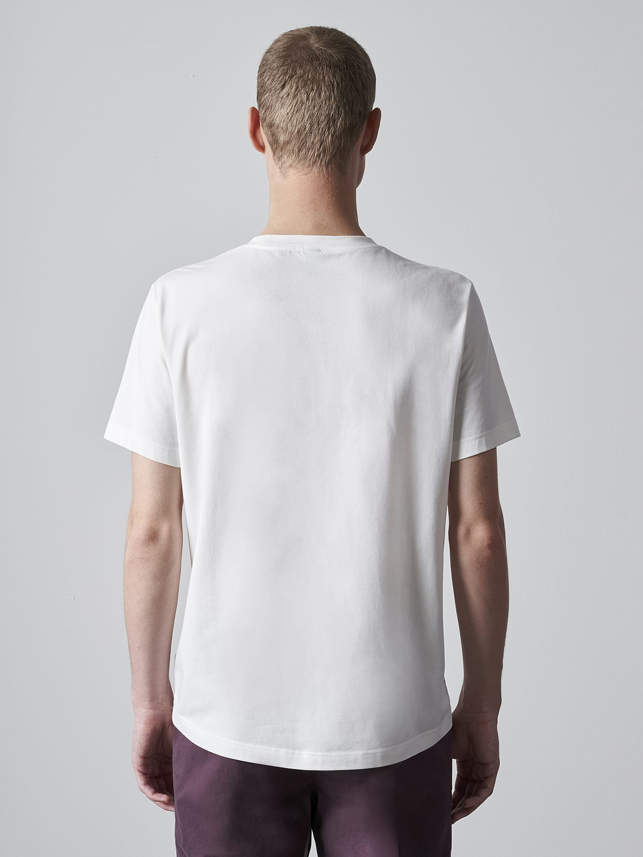 JANOS V3.Y5.02 Logo Embroidery T-Shirt offwhite Front Main Alpha Tauri