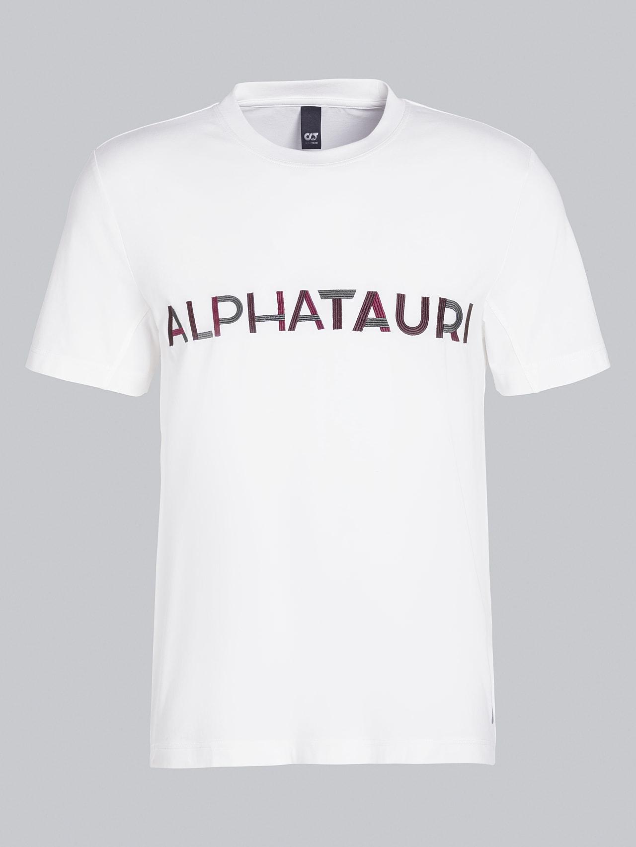 JANOS V3.Y5.02 Logo Embroidery T-Shirt offwhite Back Alpha Tauri