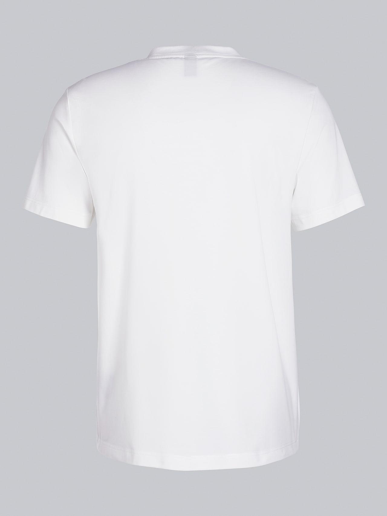JANOS V3.Y5.02 Logo Embroidery T-Shirt offwhite Left Alpha Tauri