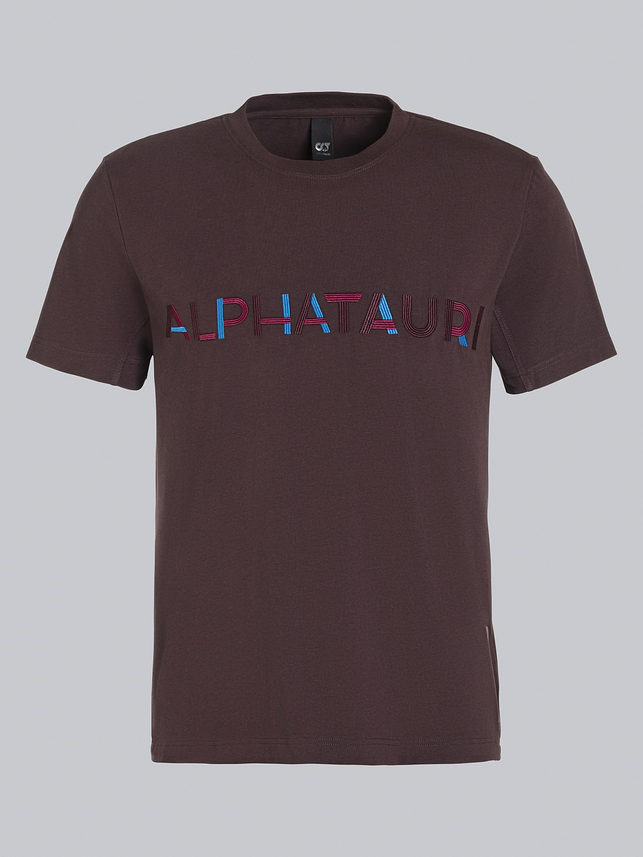 JANOS V3.Y5.02 Logo Embroidery T-Shirt Burgundy Back Alpha Tauri