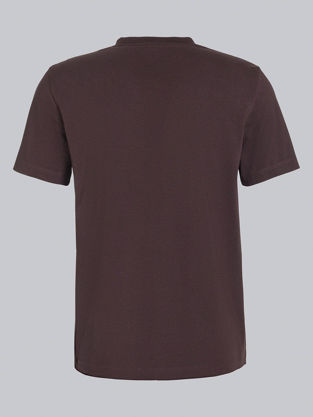 JANOS V3.Y5.02 Logo Embroidery T-Shirt Burgundy Left Alpha Tauri