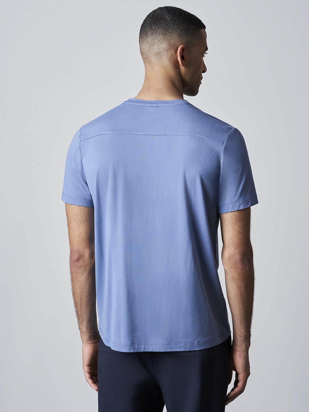 JANUE V1.Y5.02 Viscose T-Shirt light blue Front Main Alpha Tauri