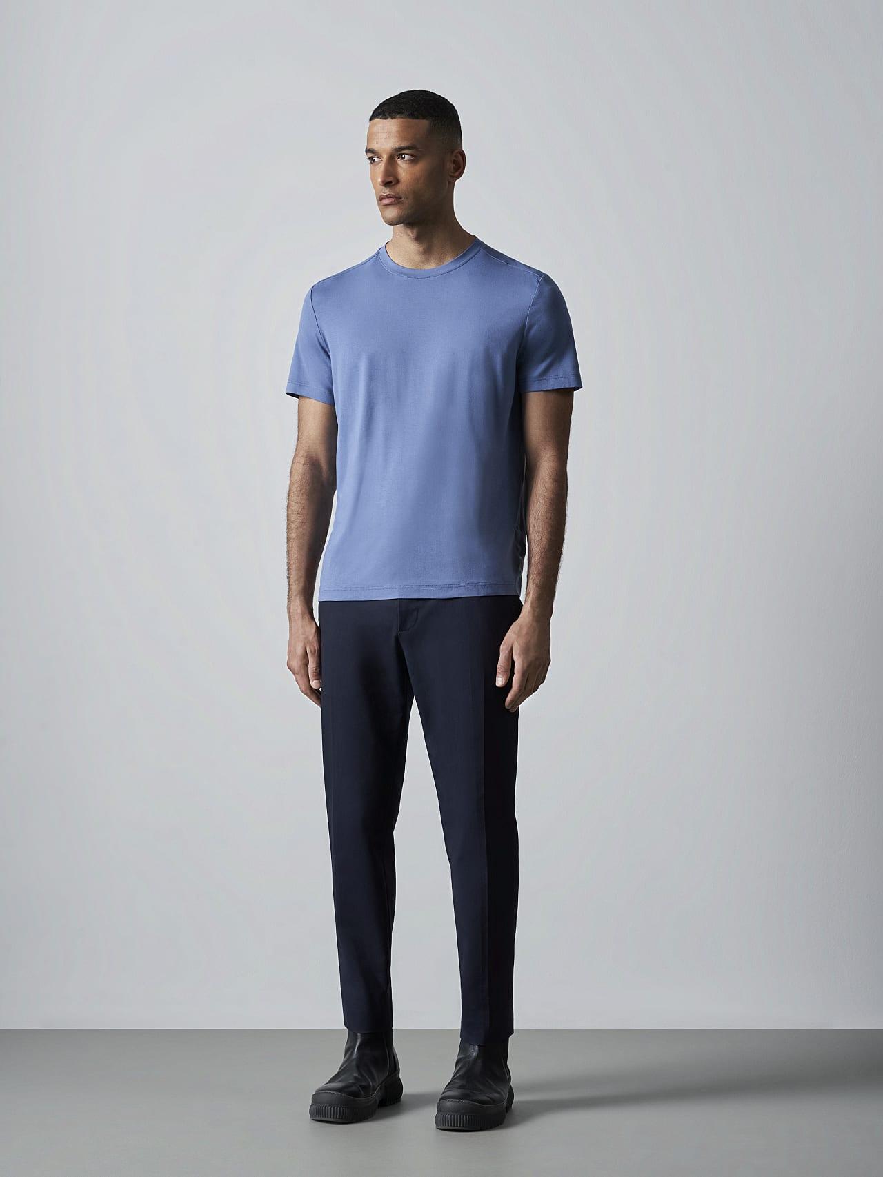 JANUE V1.Y5.02 Viscose T-Shirt light blue Front Alpha Tauri