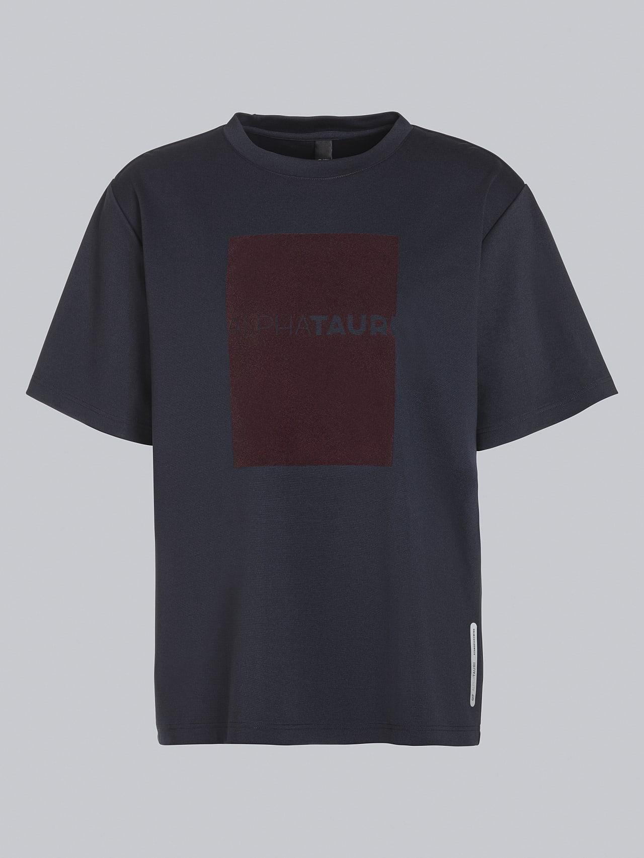 JAHEV V1.Y5.02 Relaxed Logo T-Shirt navy Back Alpha Tauri