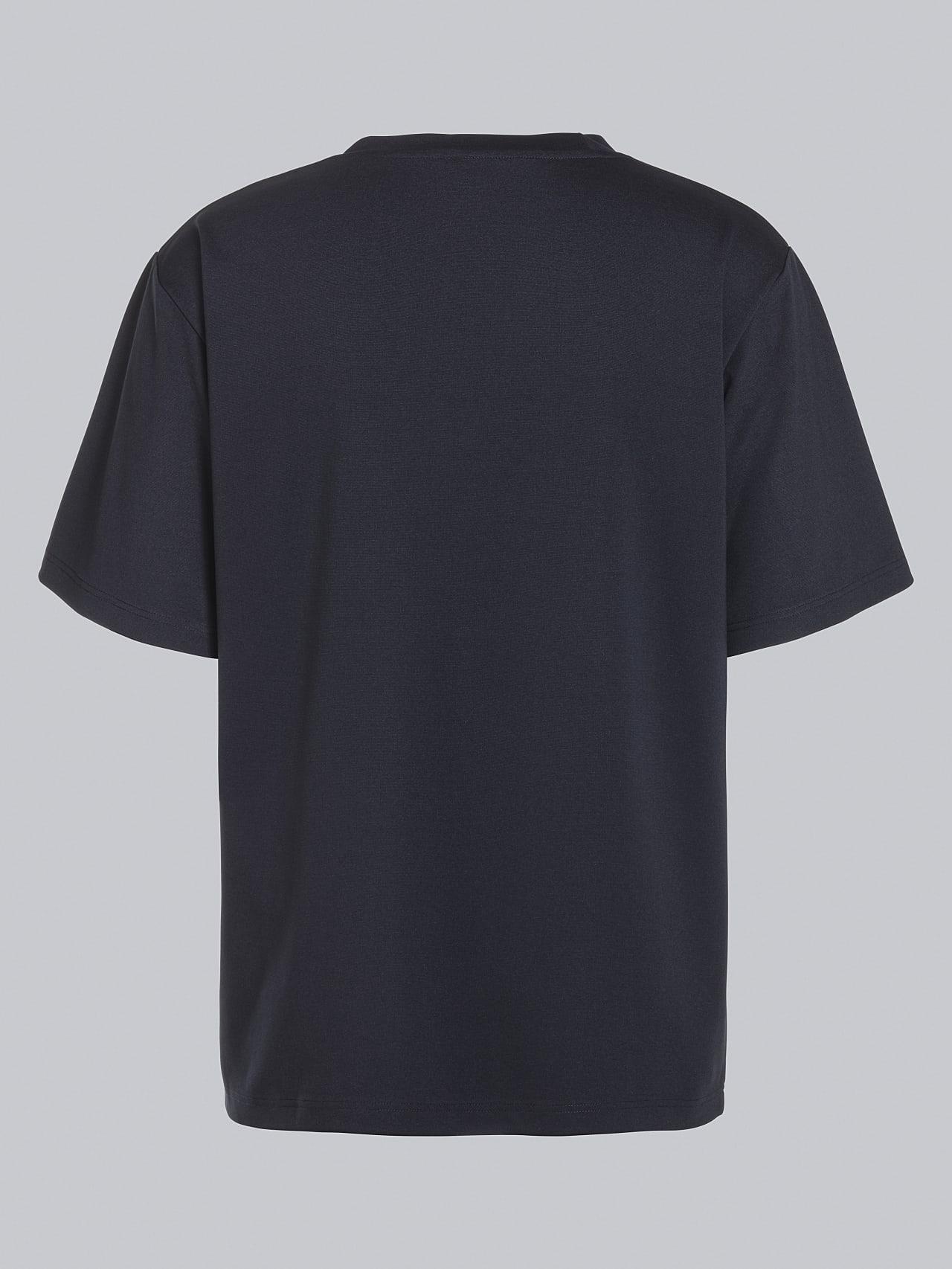JAHEV V1.Y5.02 Relaxed Logo T-Shirt navy Left Alpha Tauri