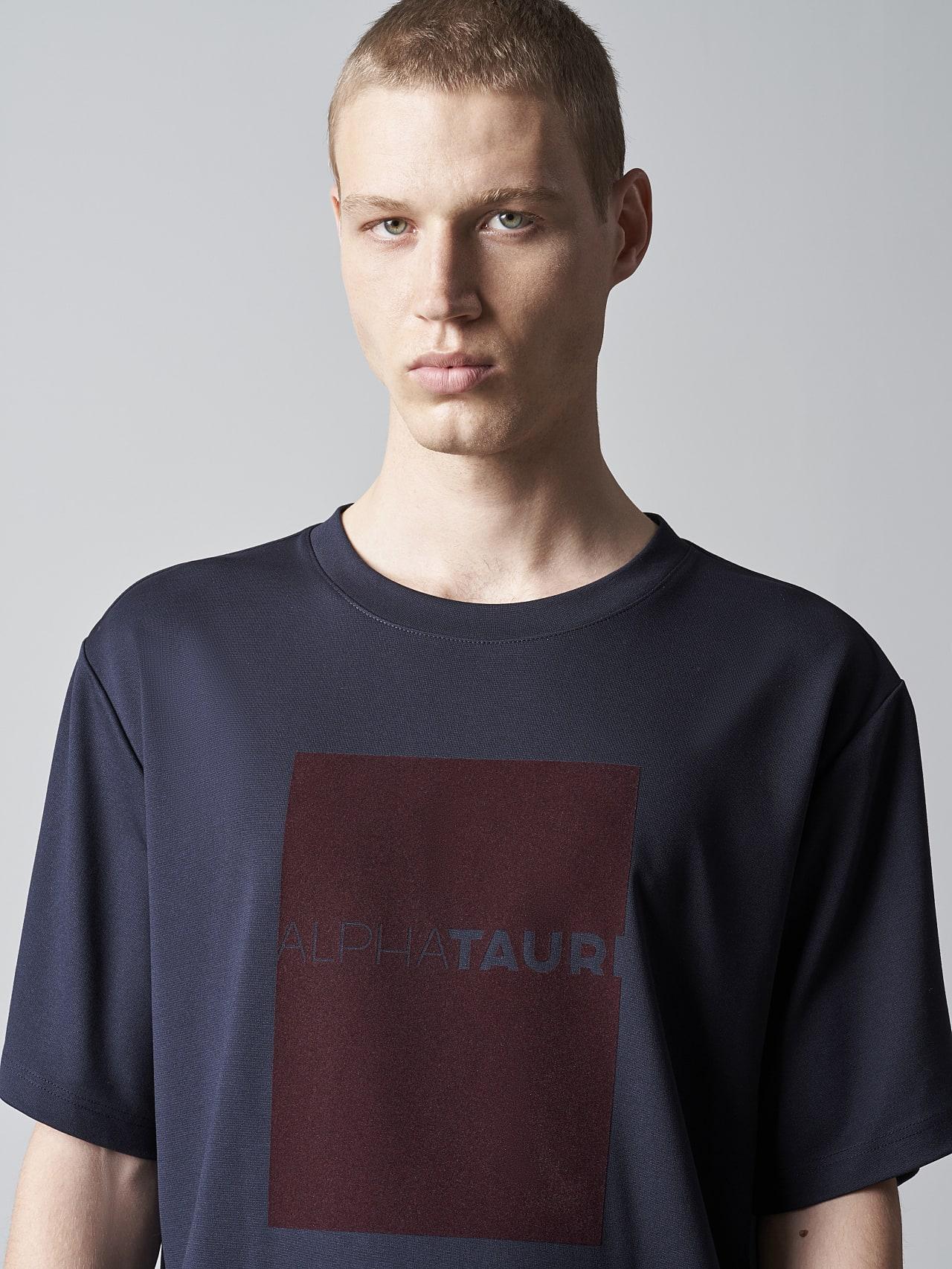JAHEV V1.Y5.02 Relaxed Logo T-Shirt navy Right Alpha Tauri