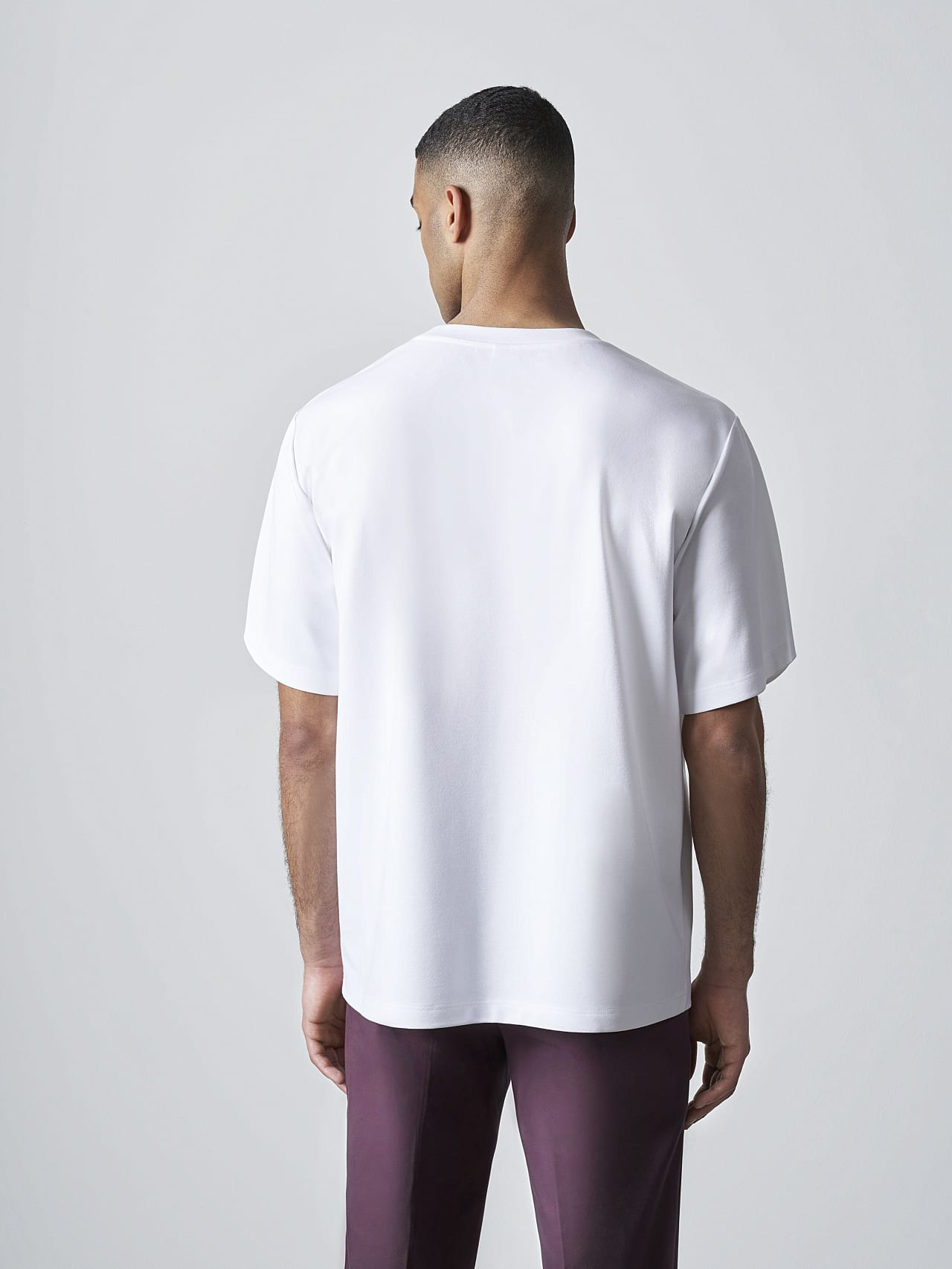 JAHEV V1.Y5.02 Relaxed Logo T-Shirt white Front Main Alpha Tauri