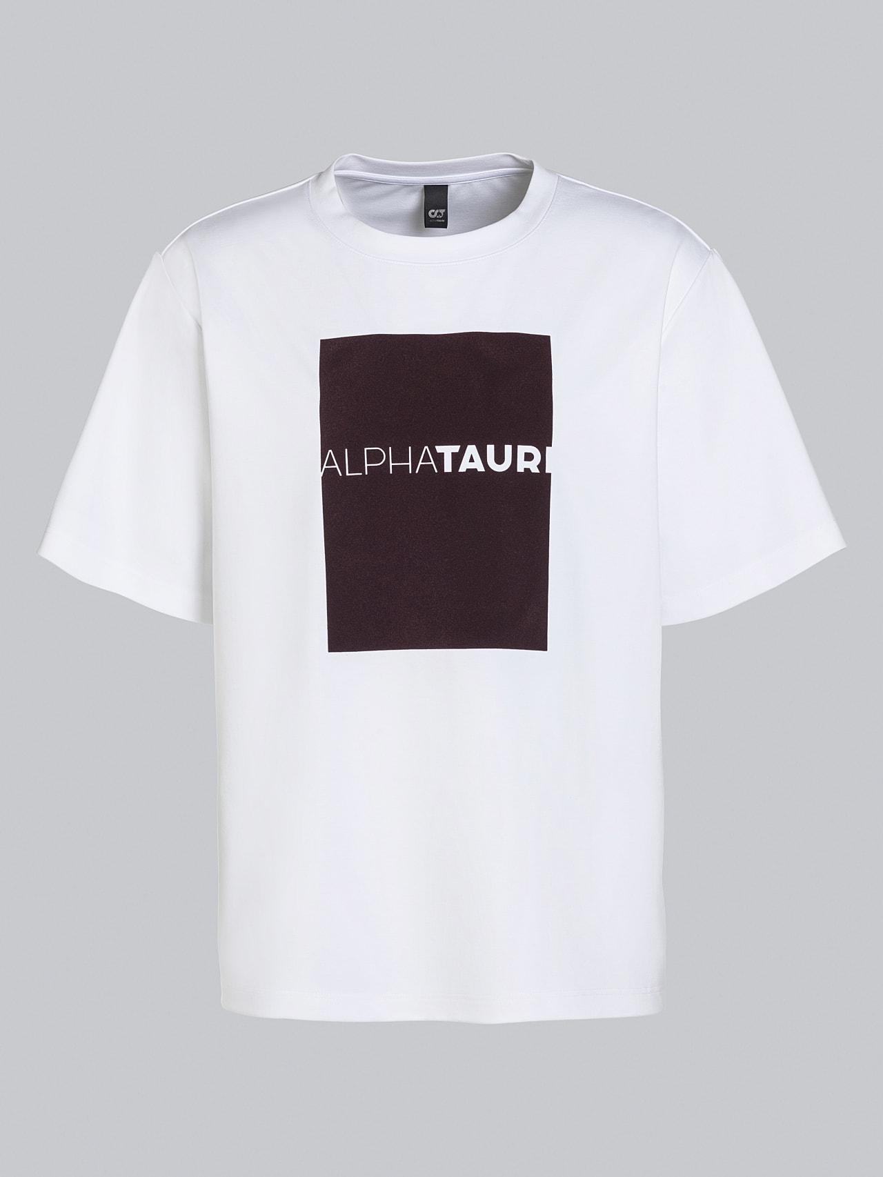 JAHEV V1.Y5.02 Relaxed Logo T-Shirt white Back Alpha Tauri