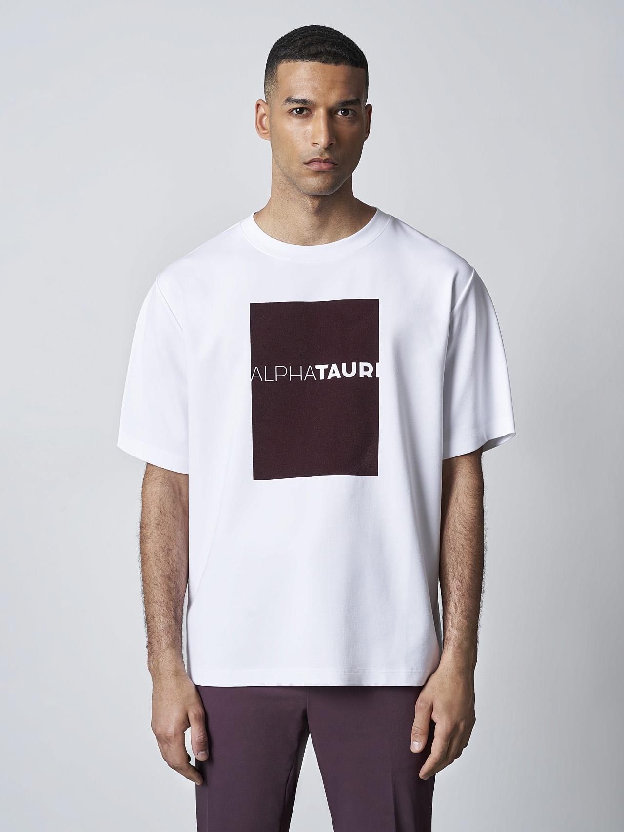 JAHEV V1.Y5.02 Relaxed Logo T-Shirt white Right Alpha Tauri