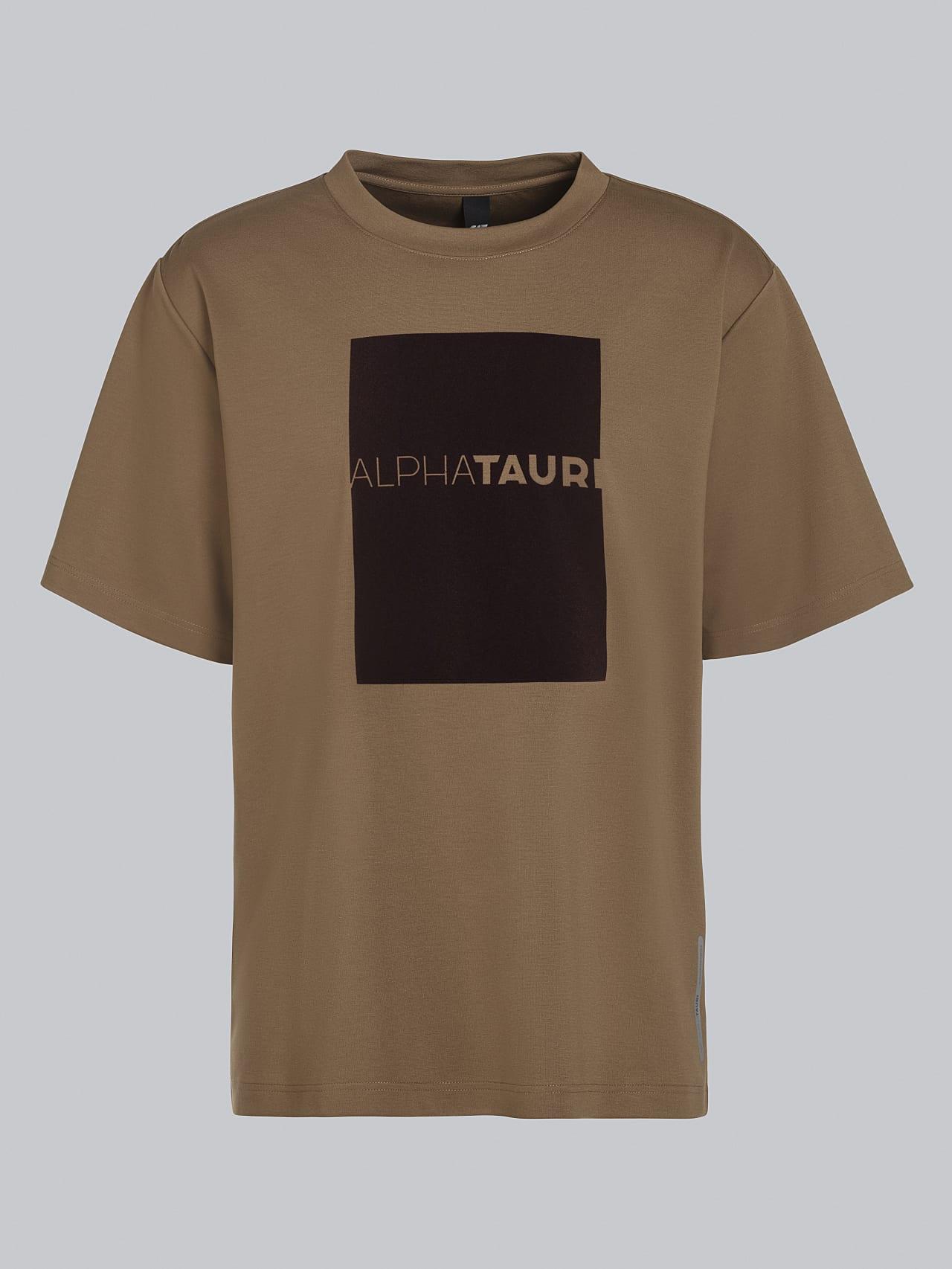 JAHEV V1.Y5.02 Relaxed Logo T-Shirt gold Back Alpha Tauri
