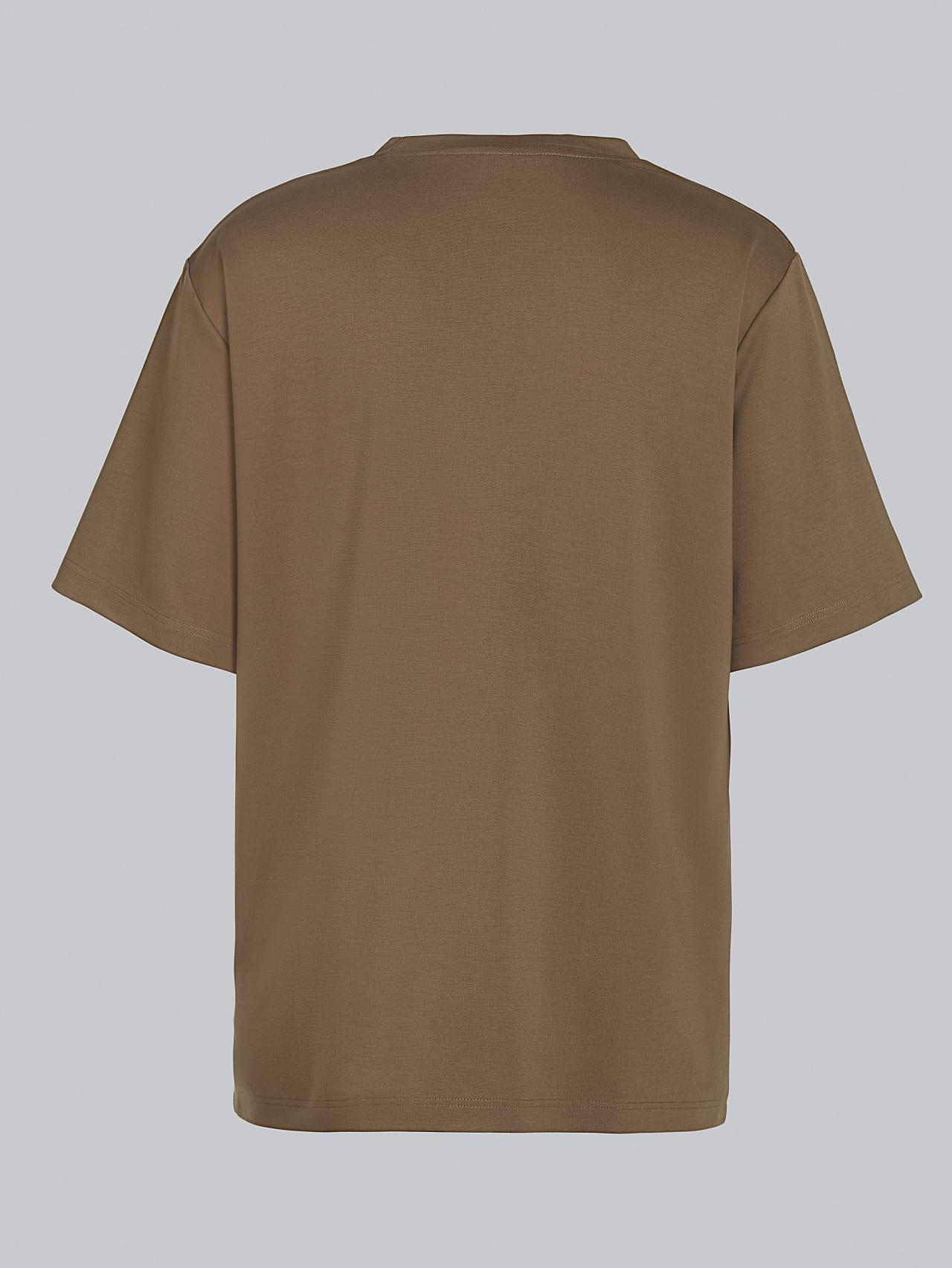 JAHEV V1.Y5.02 Relaxed Logo T-Shirt gold Left Alpha Tauri