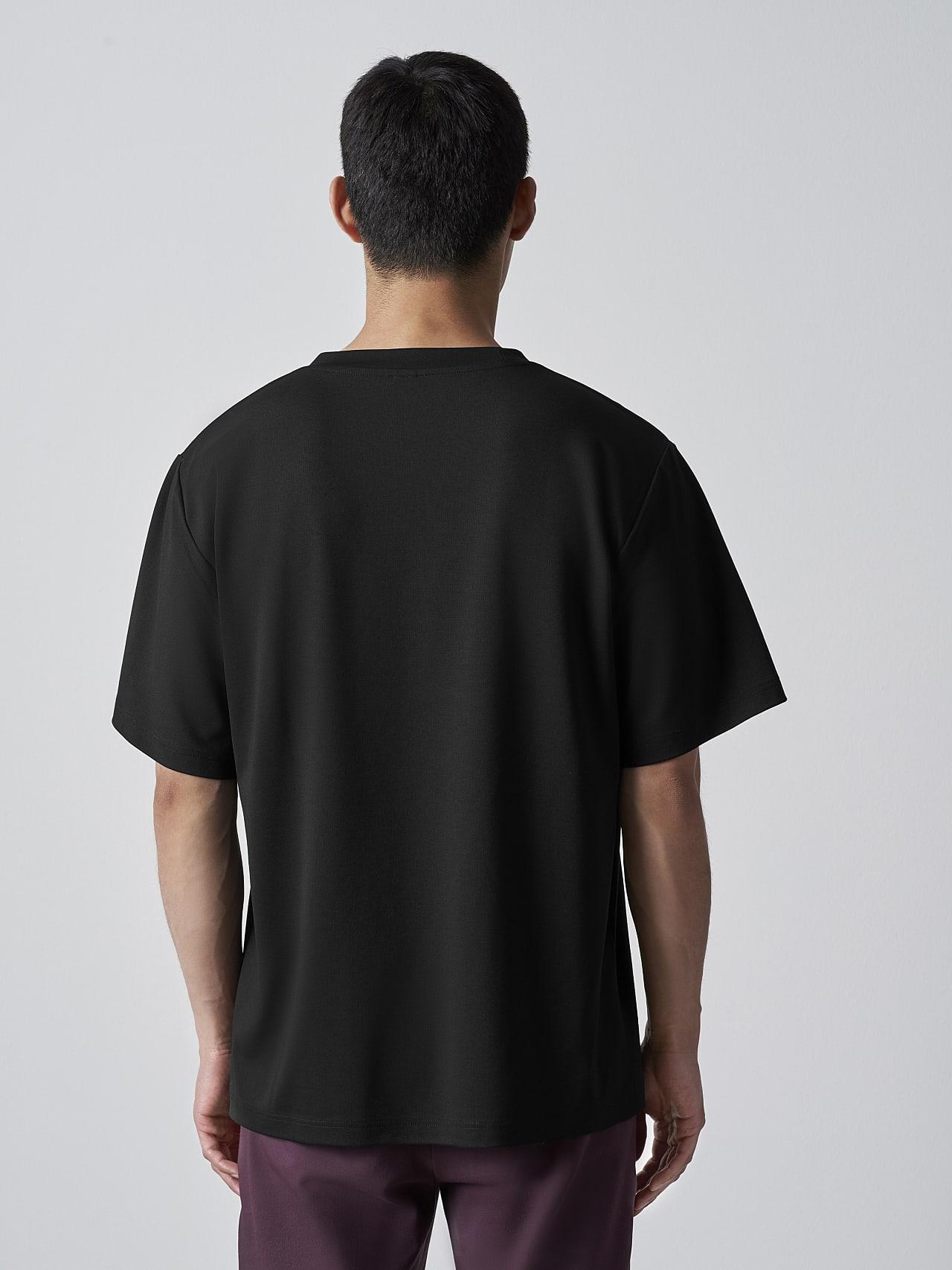 JAHEV V1.Y5.02 Relaxed Logo T-Shirt black Front Main Alpha Tauri