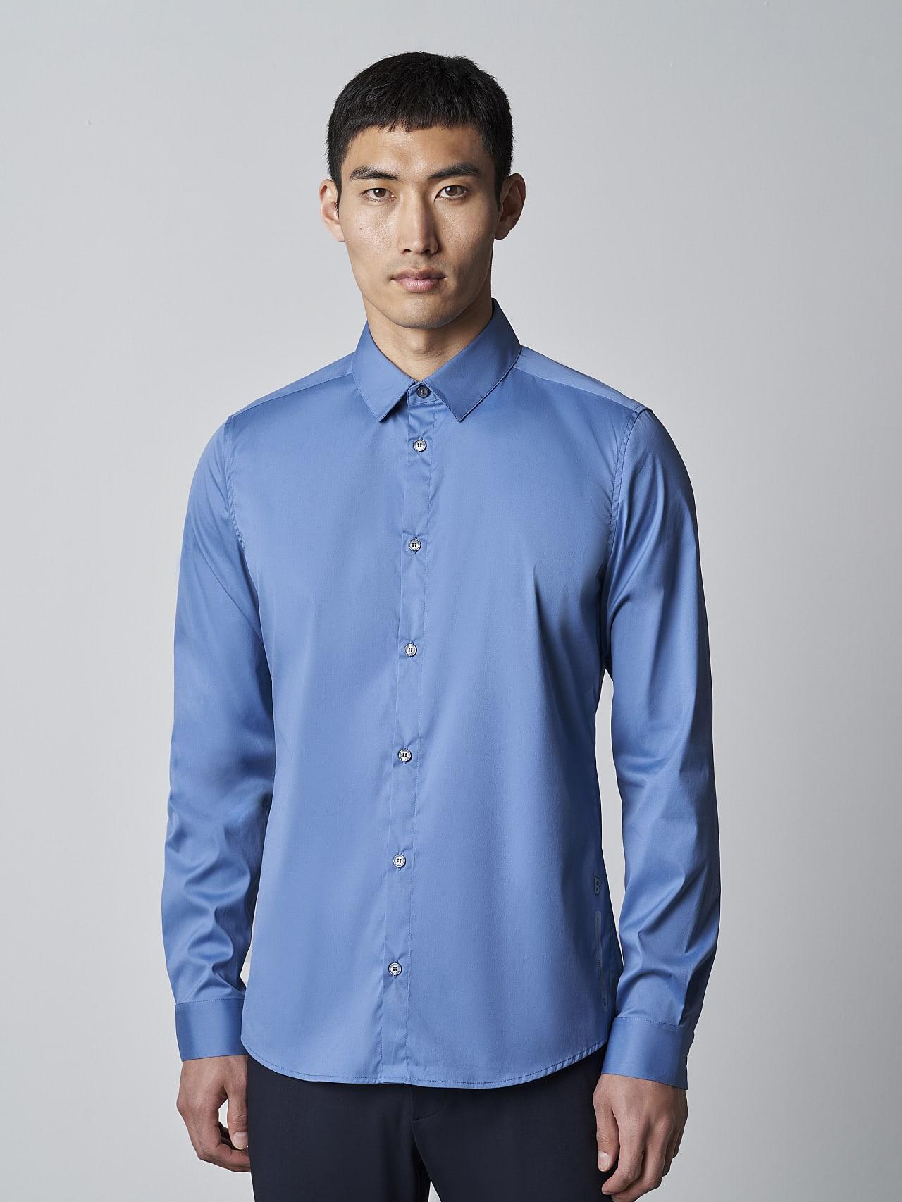 WAARG V2.Y5.02 Easy-Care Cotton Shirt light blue Front Alpha Tauri