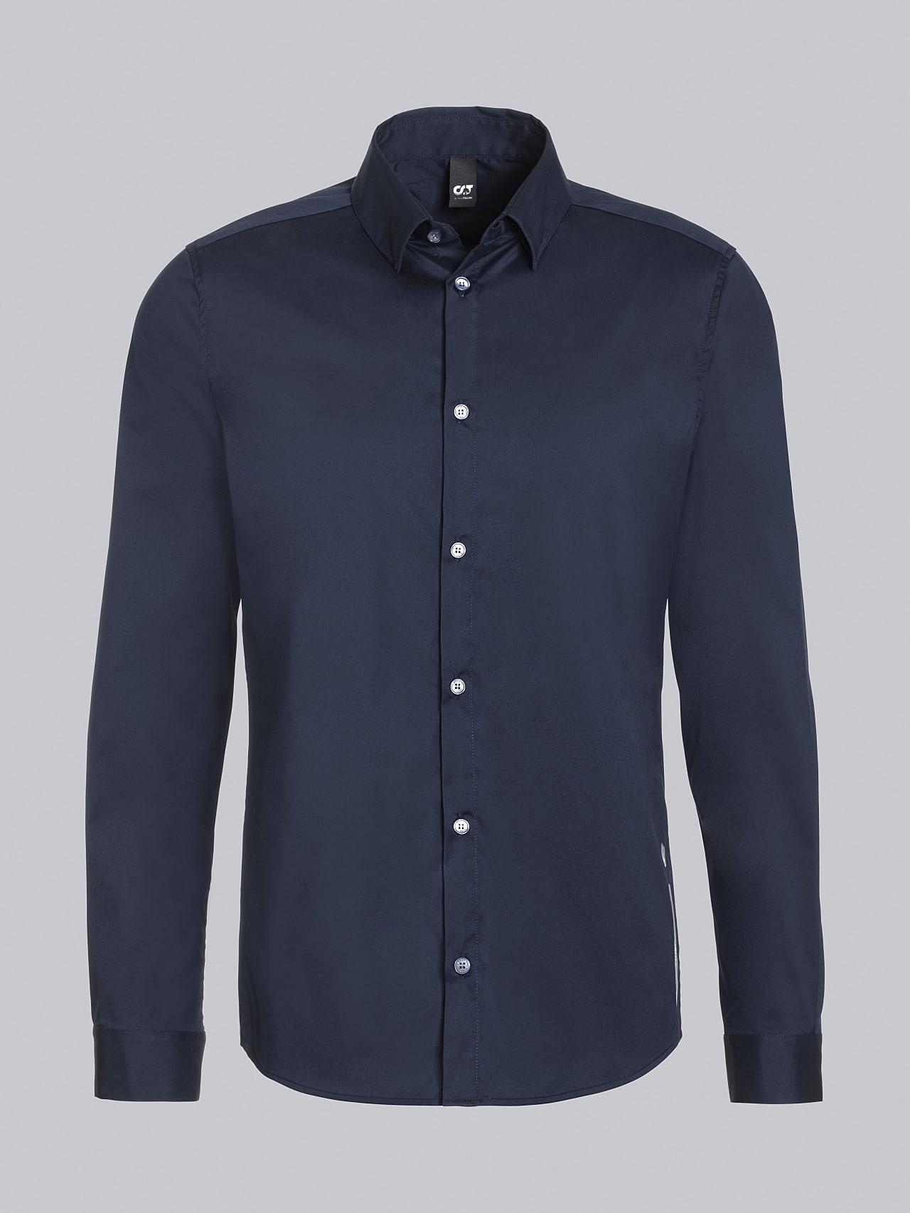 WAARG V2.Y5.02 Easy-Care Cotton Shirt navy Back Alpha Tauri