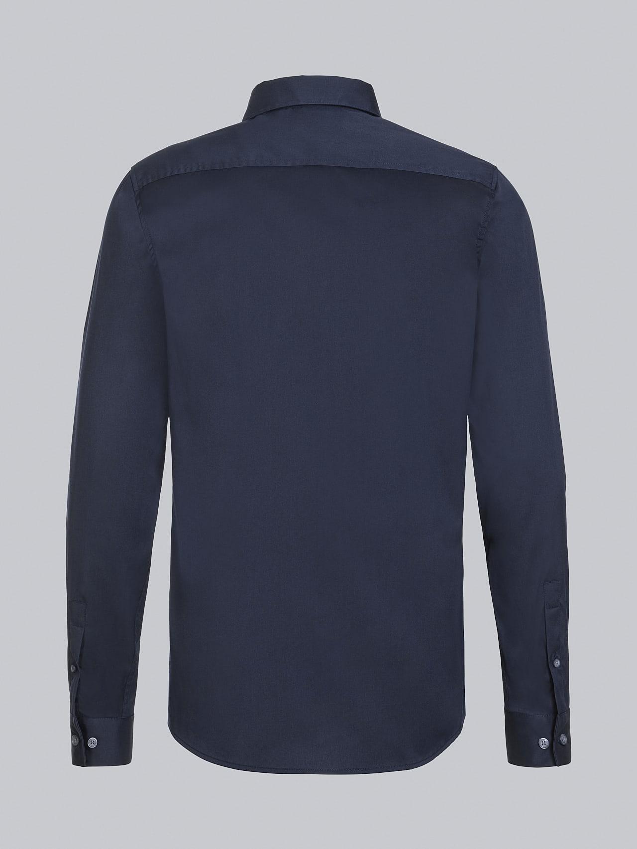 WAARG V2.Y5.02 Easy-Care Cotton Shirt navy Left Alpha Tauri