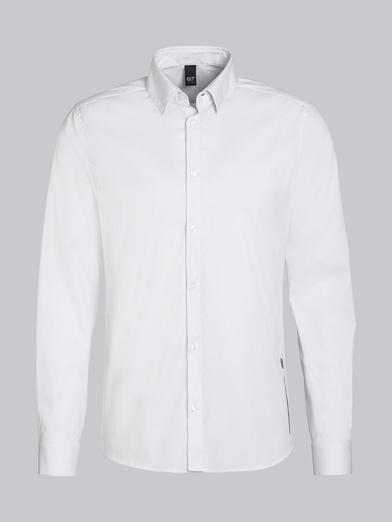 WAARG V2.Y5.02 Easy-Care Cotton Shirt white Back Alpha Tauri
