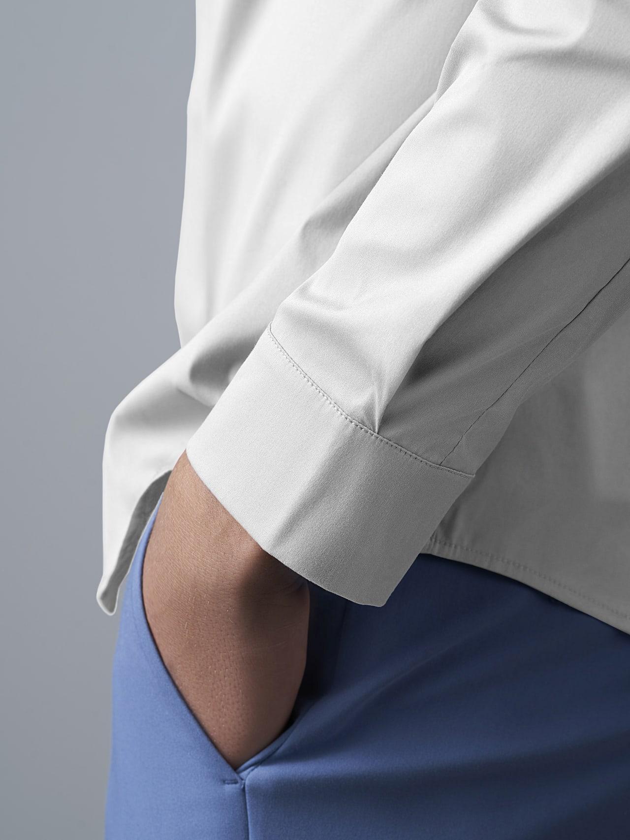 WAMNE V1.Y5.02 Easy-Care Shirt white Extra Alpha Tauri