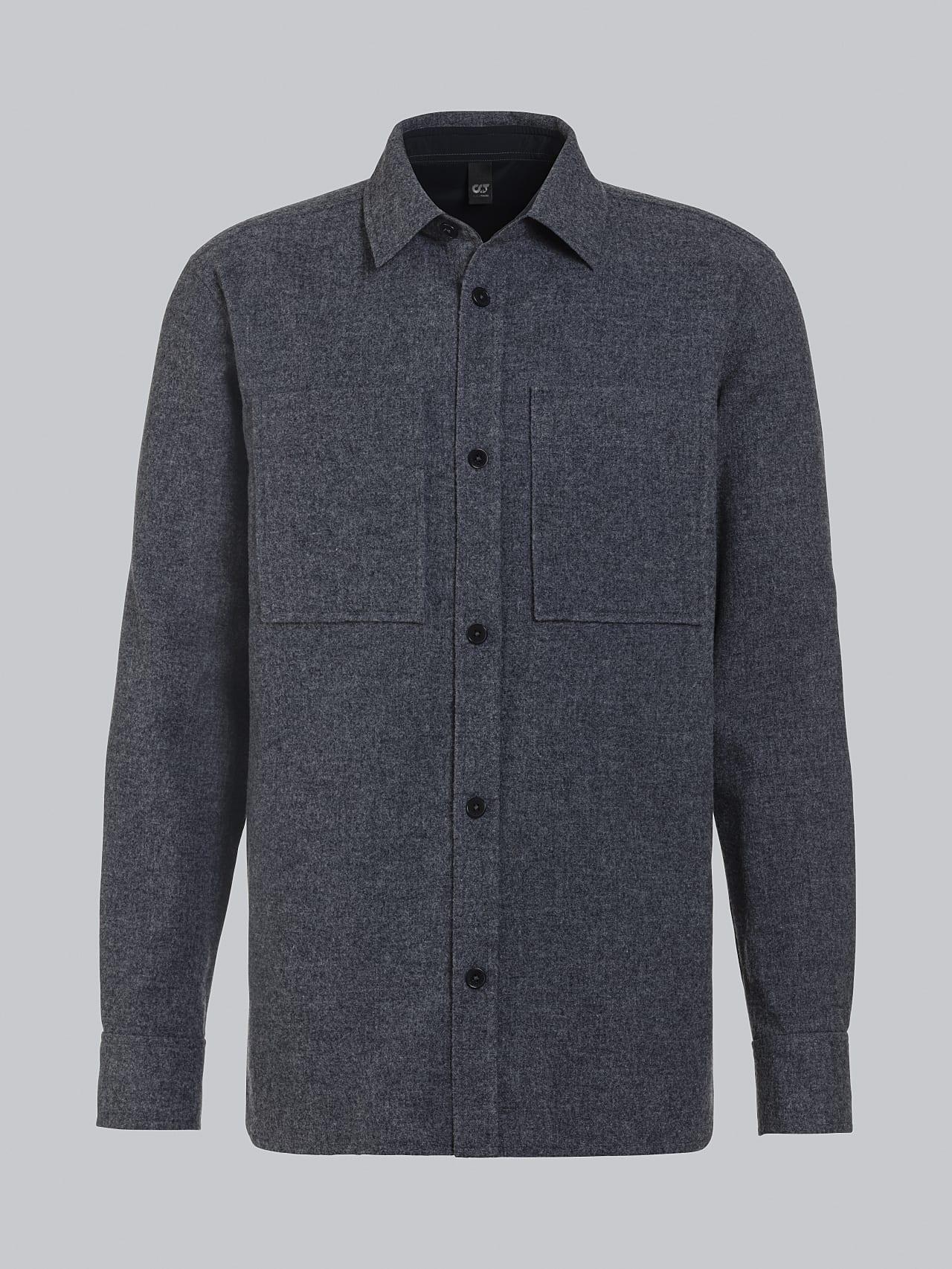 WOVER V1.Y5.02 Wool Over-Shirt navy Back Alpha Tauri