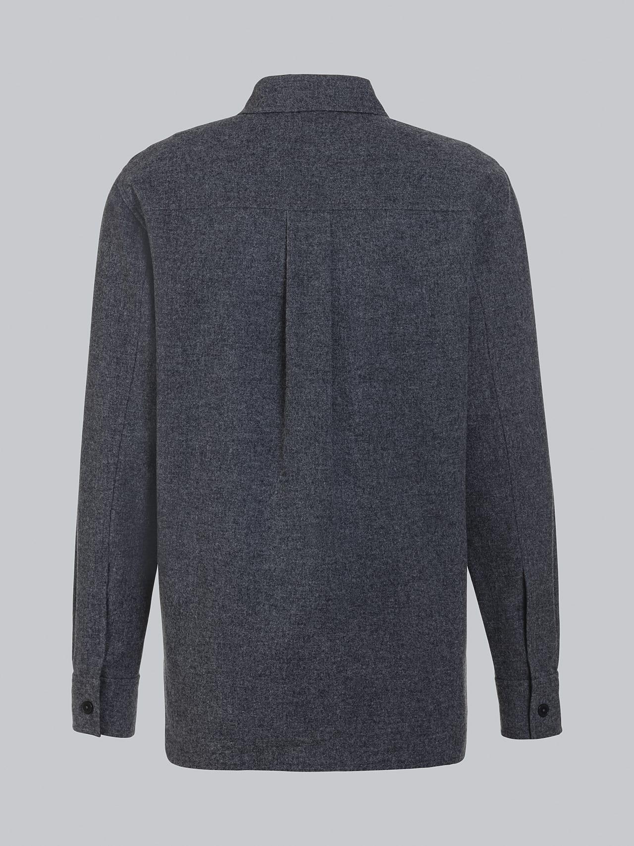 WOVER V1.Y5.02 Wool Over-Shirt navy Left Alpha Tauri