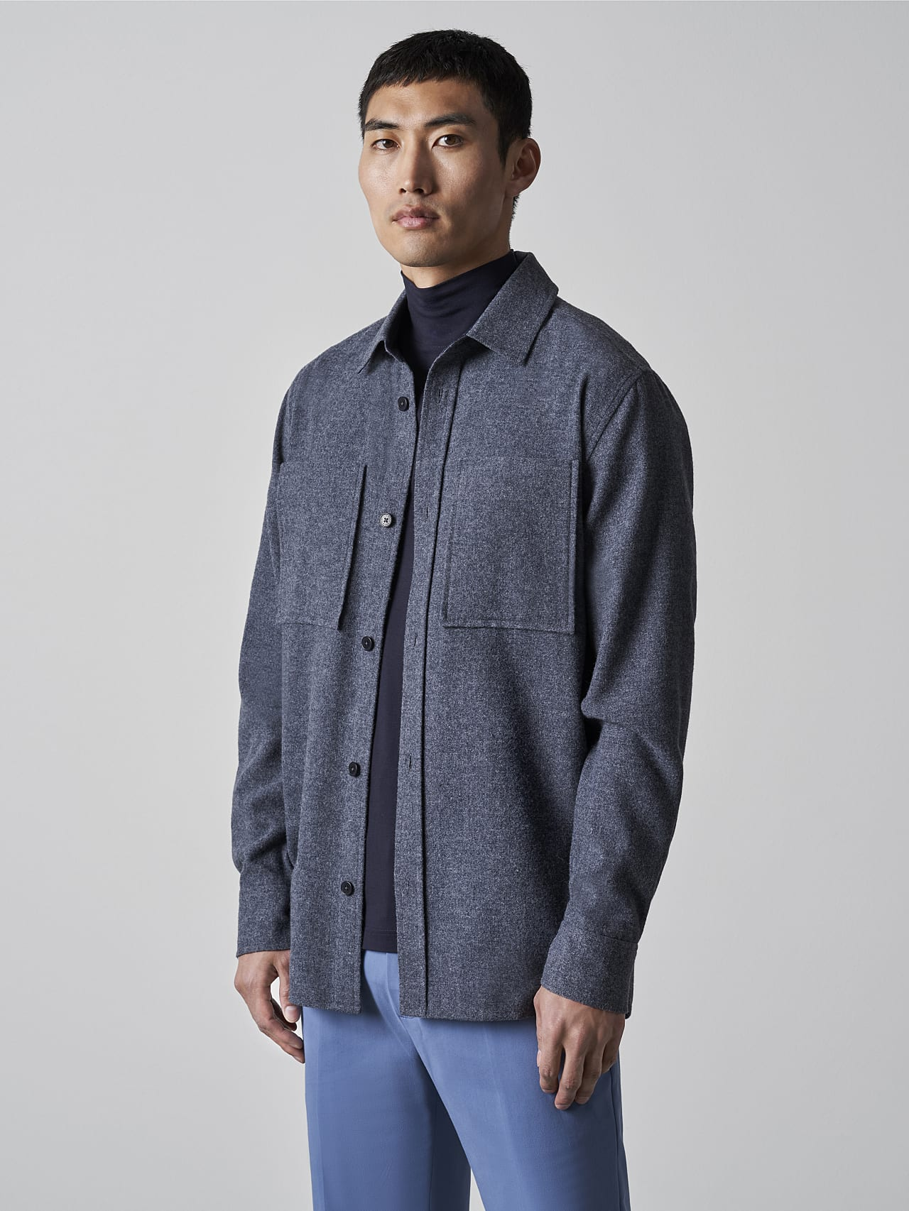 WOVER V1.Y5.02 Wool Over-Shirt navy Extra Alpha Tauri
