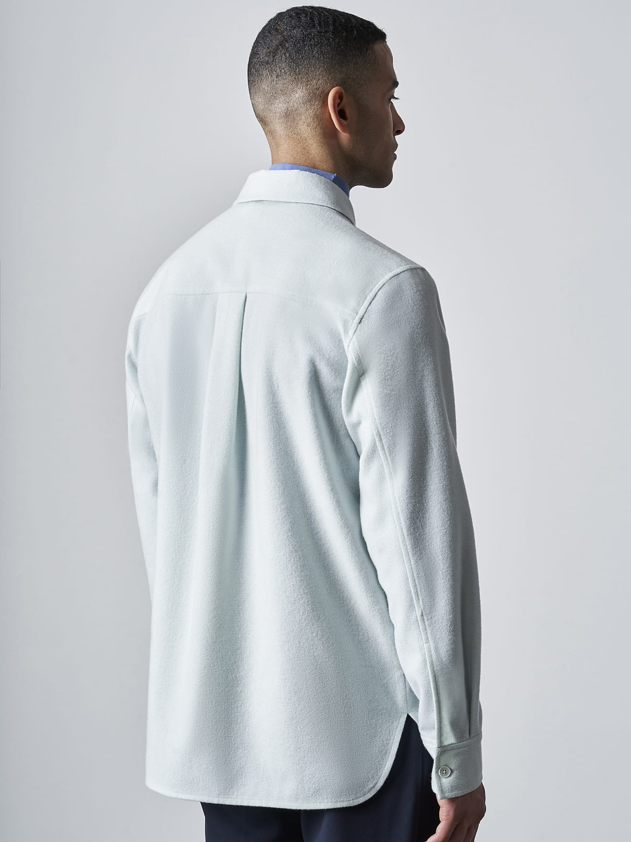 WOVER V1.Y5.02 Wool Over-Shirt Pale Blue  Front Main Alpha Tauri