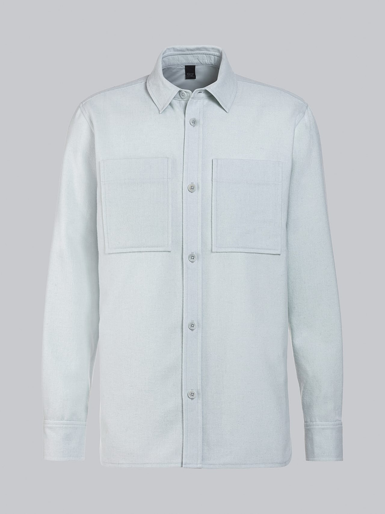 WOVER V1.Y5.02 Wool Over-Shirt Pale Blue  Back Alpha Tauri