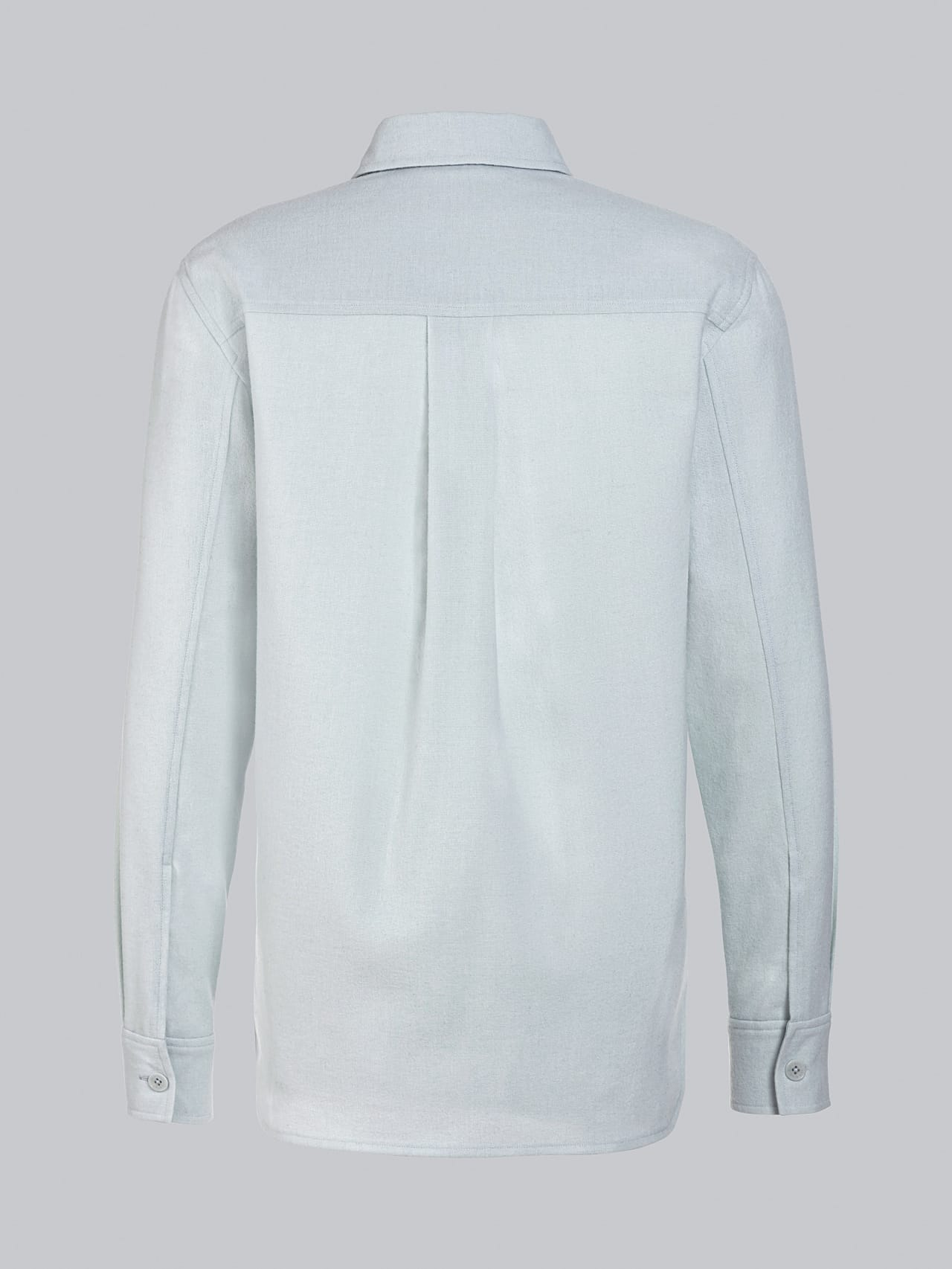 WOVER V1.Y5.02 Wool Over-Shirt Pale Blue  Left Alpha Tauri