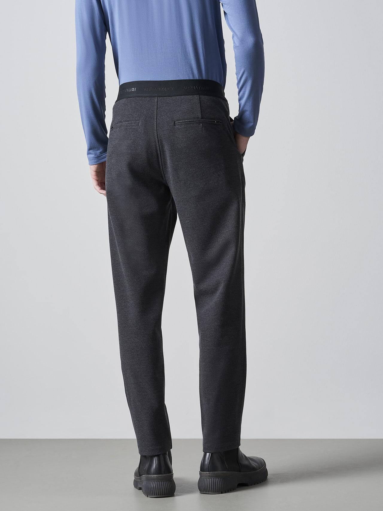 PRINO V2.Y5.02 Cropped Waterproof Sweat Pants dark grey / anthracite Front Main Alpha Tauri