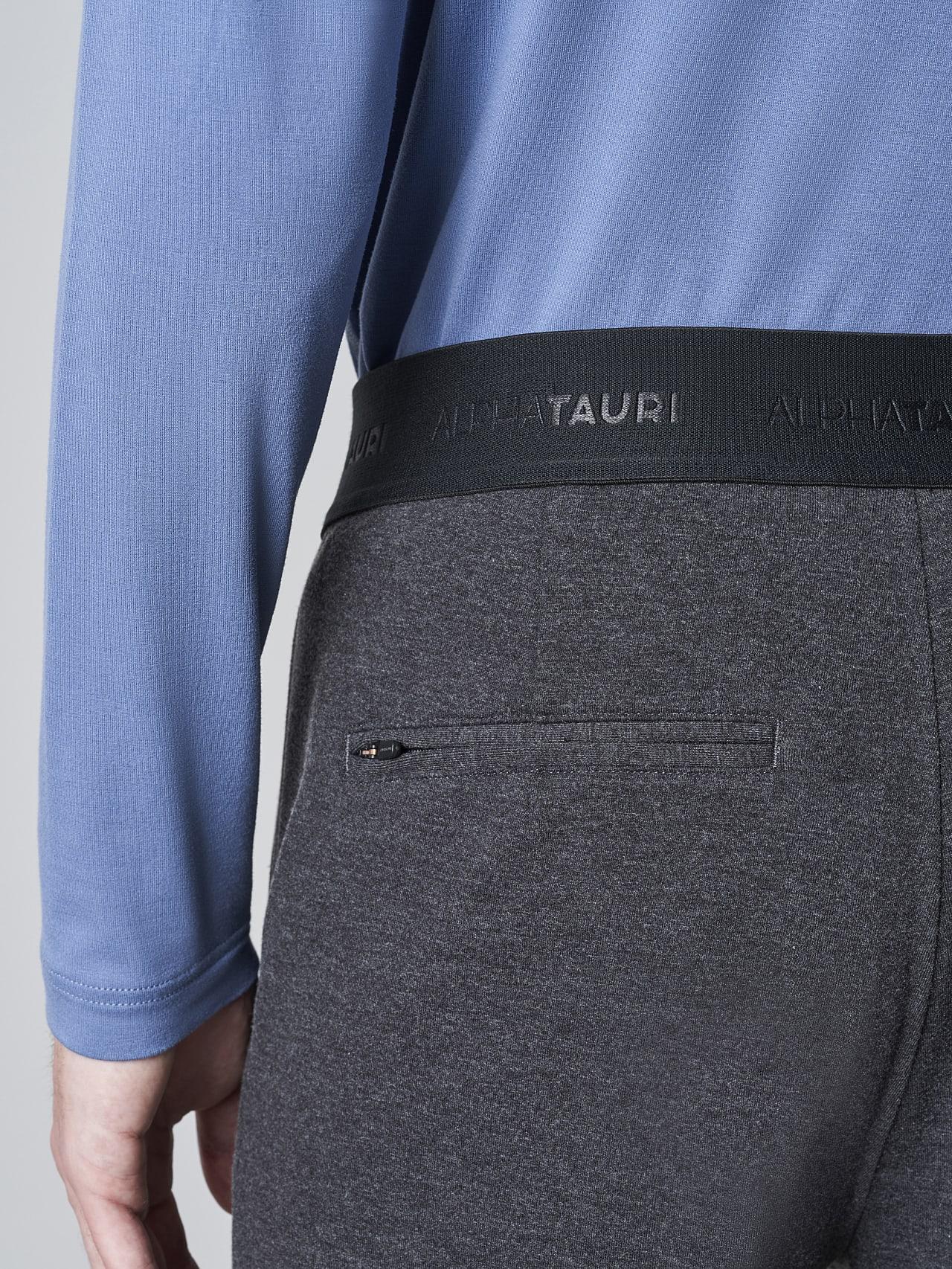 PRINO V2.Y5.02 Cropped Waterproof Sweat Pants dark grey / anthracite Front Alpha Tauri