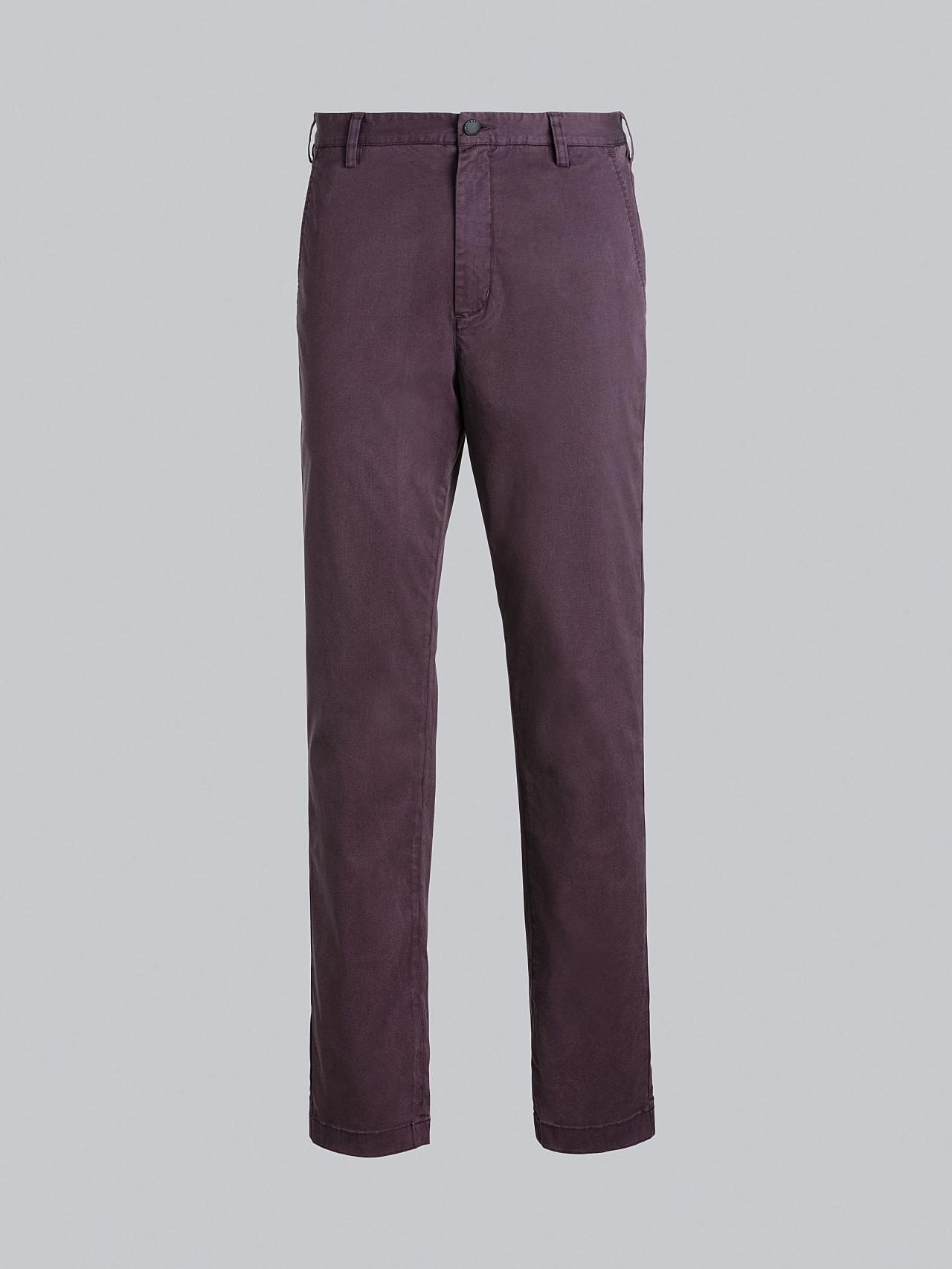 PARO V5.Y5.02 Straight Cut Cotton Chino Burgundy Back Alpha Tauri