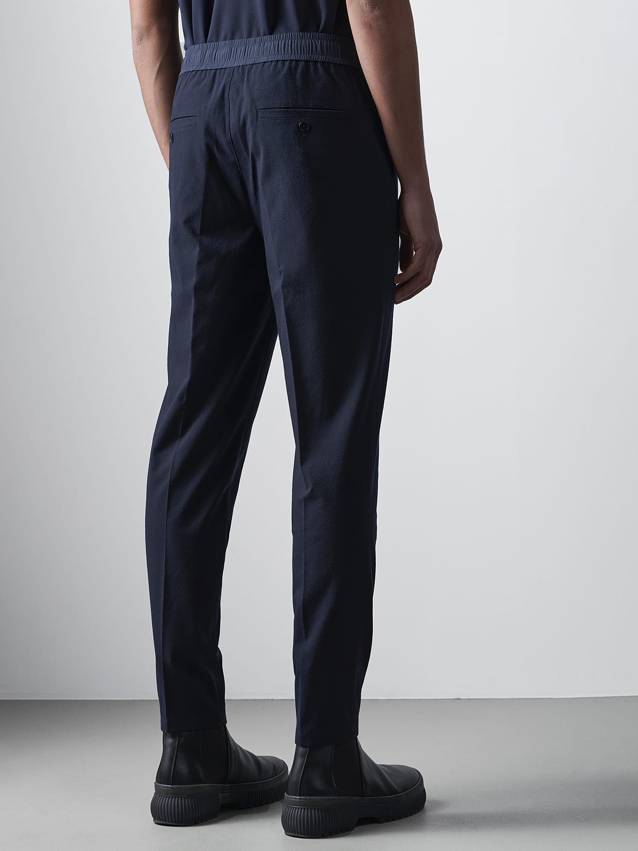 PANZA V1.Y5.02 Slim Pleat Trousers navy Front Main Alpha Tauri