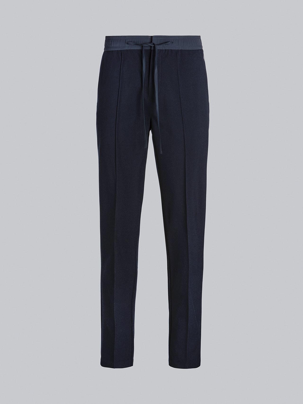 PANZA V1.Y5.02 Slim Pleat Trousers navy Back Alpha Tauri
