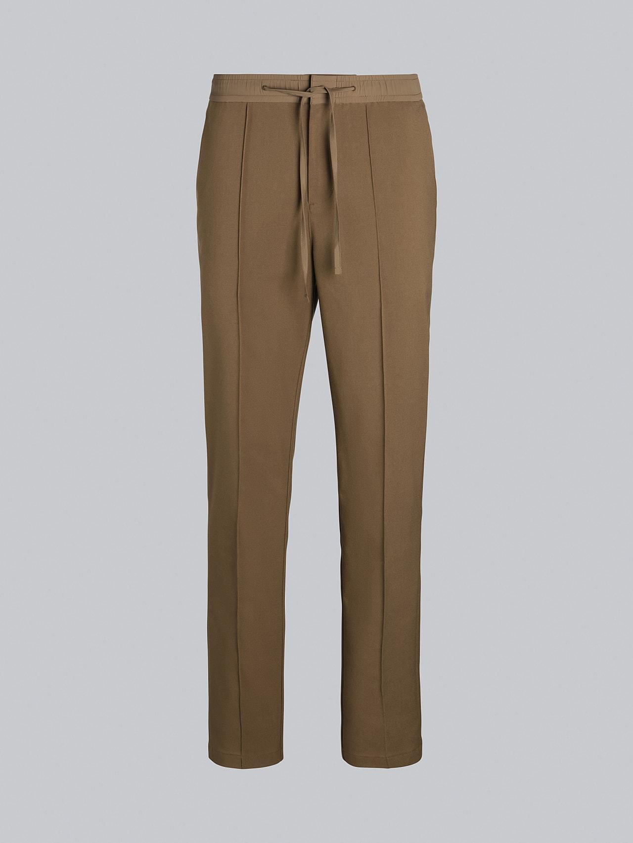 PANZA V1.Y5.02 Slim Pleat Trousers gold Back Alpha Tauri