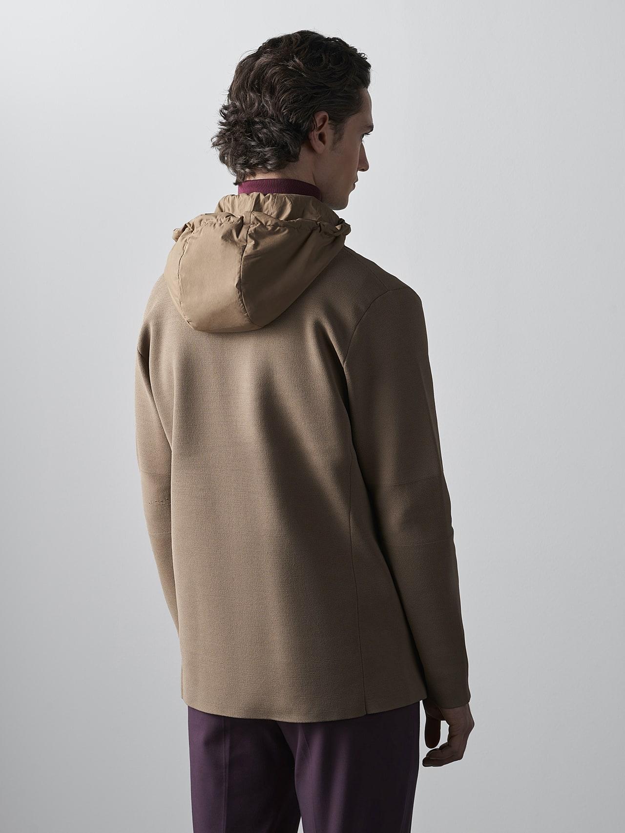 FELIP V1.Y5.02 Water-Repellent Knit Blazer gold Front Main Alpha Tauri