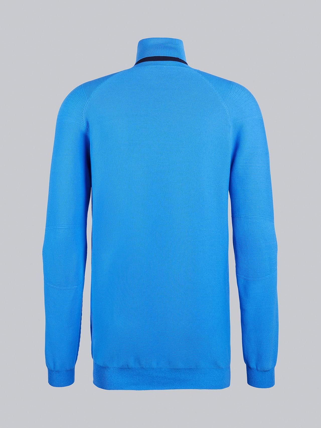 FUZZO V1.Y5.02 Seamless 3D Knit Roll-Neck Jumper blue Left Alpha Tauri