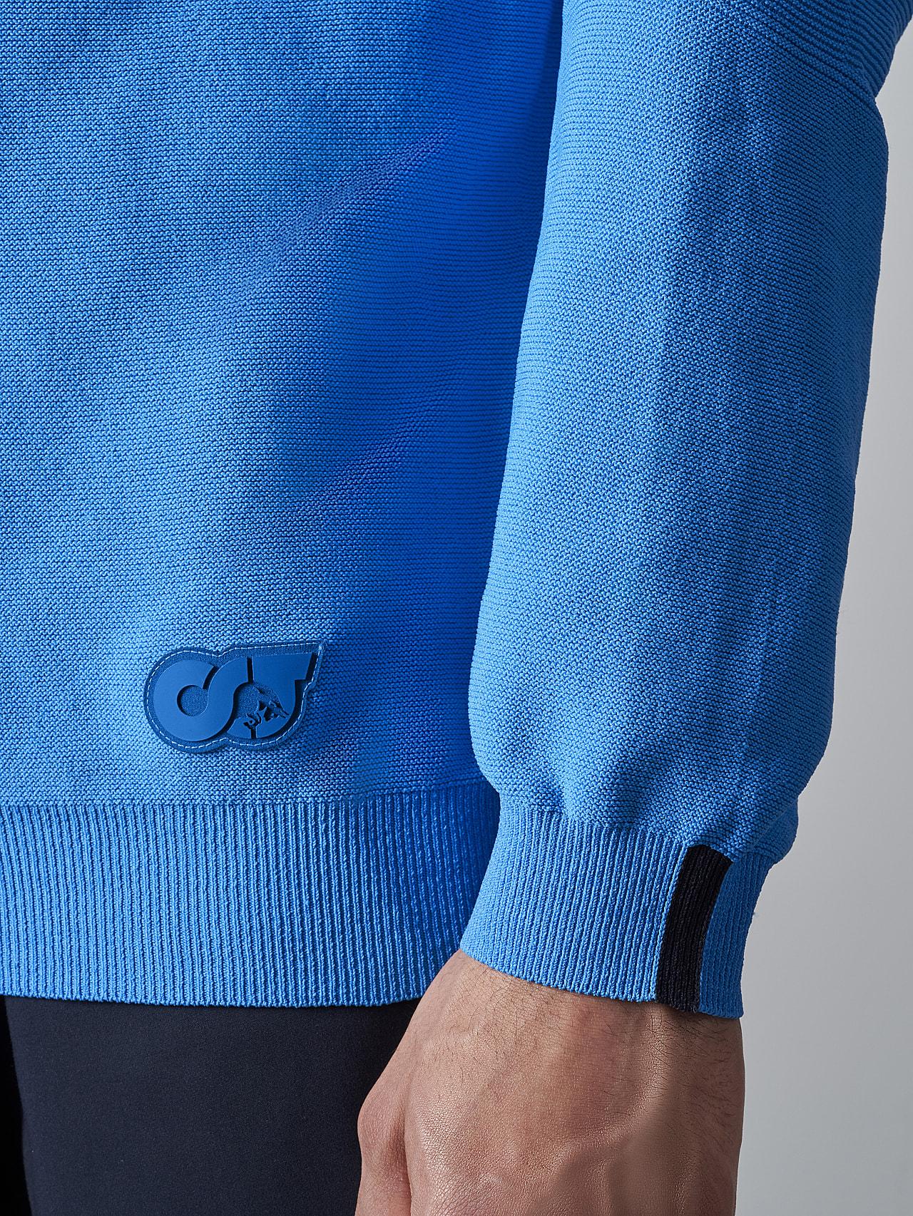 FUZZO V1.Y5.02 Seamless 3D Knit Roll-Neck Jumper blue Extra Alpha Tauri