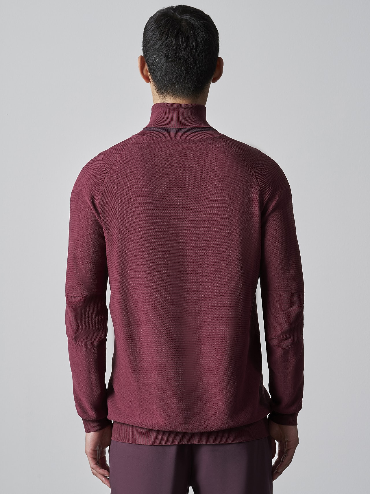 FUZZO V1.Y5.02 Seamless 3D Knit Roll-Neck Jumper bordeaux Front Main Alpha Tauri